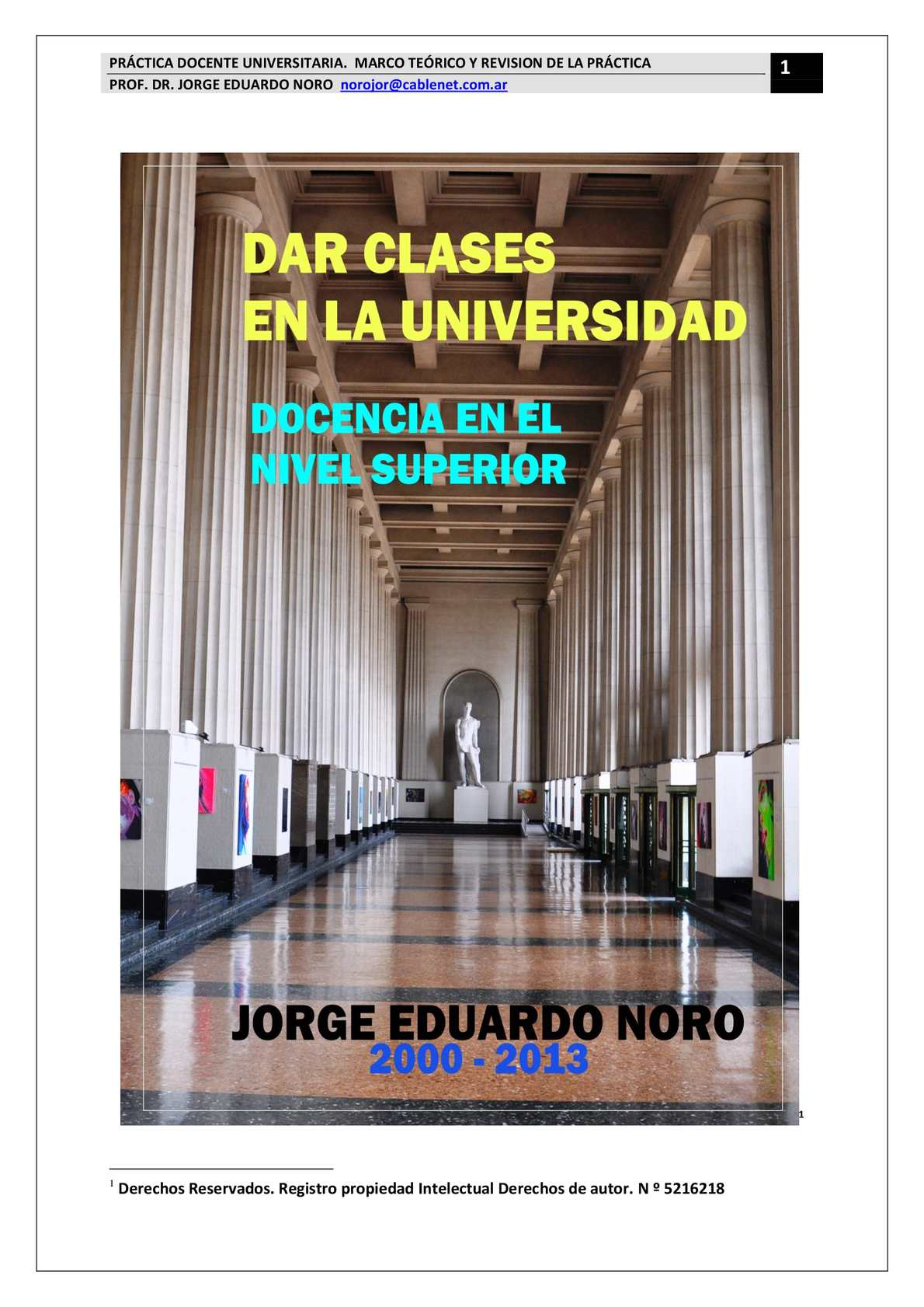 189. DAR CLASES EN LA UNIVERDAD. DOCENCIA EN EL NIVEL SUPERIOR