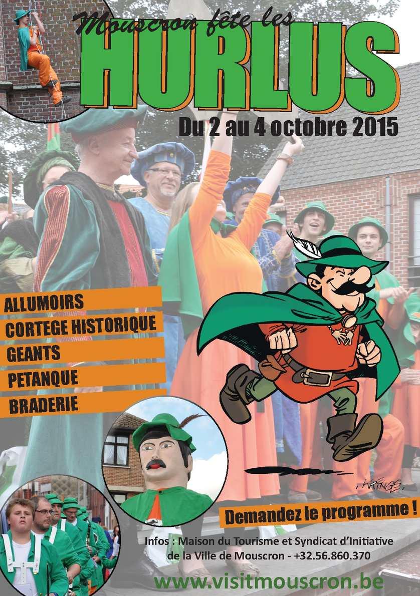 Calam o brochure hurlus 2015 for Piscine des dauphins mouscron