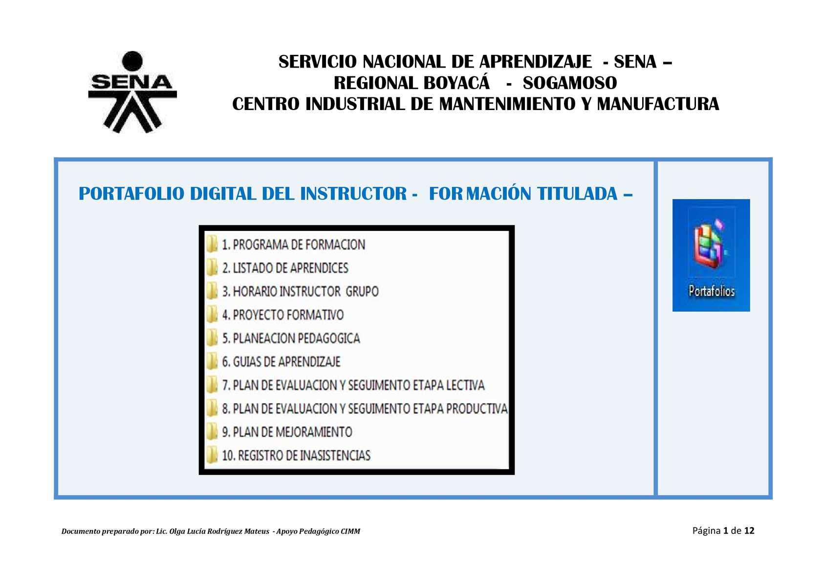 Soplete Portafolio Digital de Instructores Formación Titulada Sept 2015