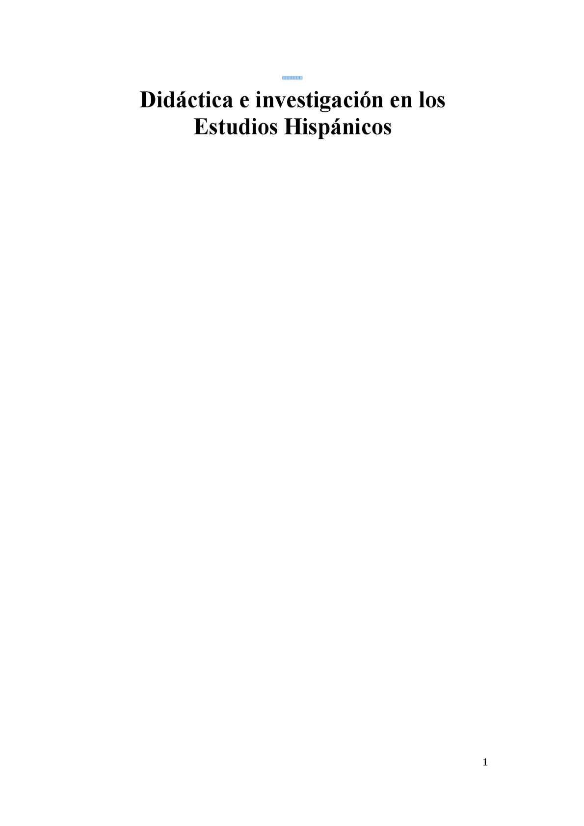 Calaméo - Didáctica E Investigación En Los Estudios Hispánicos