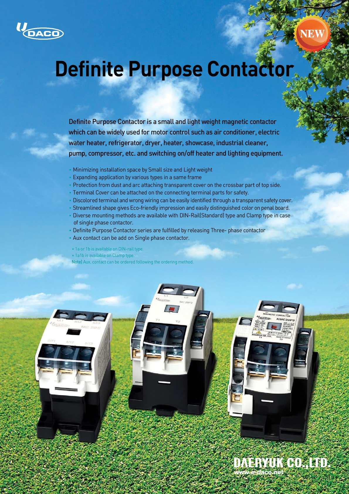 DACO 2 pole Contactors