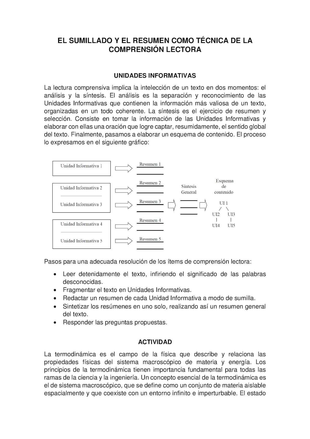 El Sumillado Y El Resumen Como Técnica De La Comprensión Lectora ...