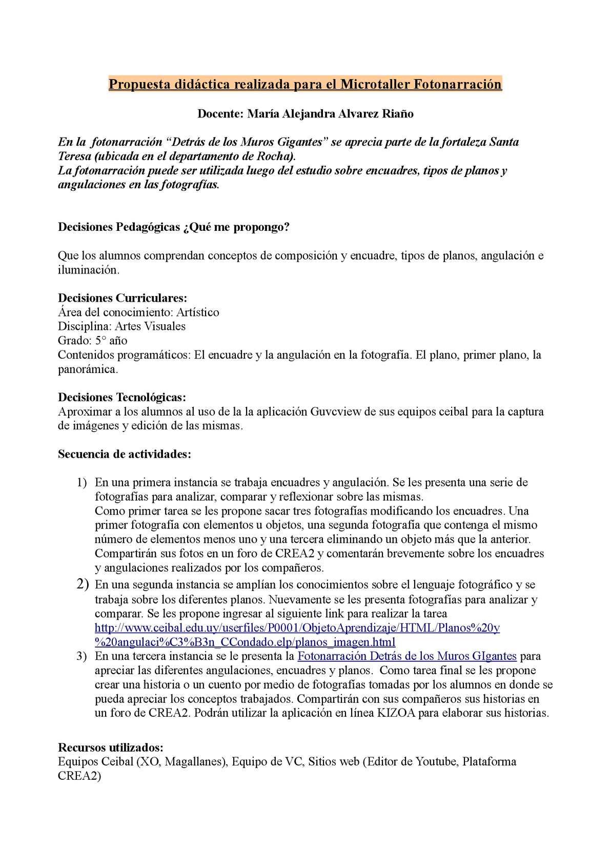 Calaméo - Propuesta Que Acompaña La Fotonarracion Detrás De Los ...