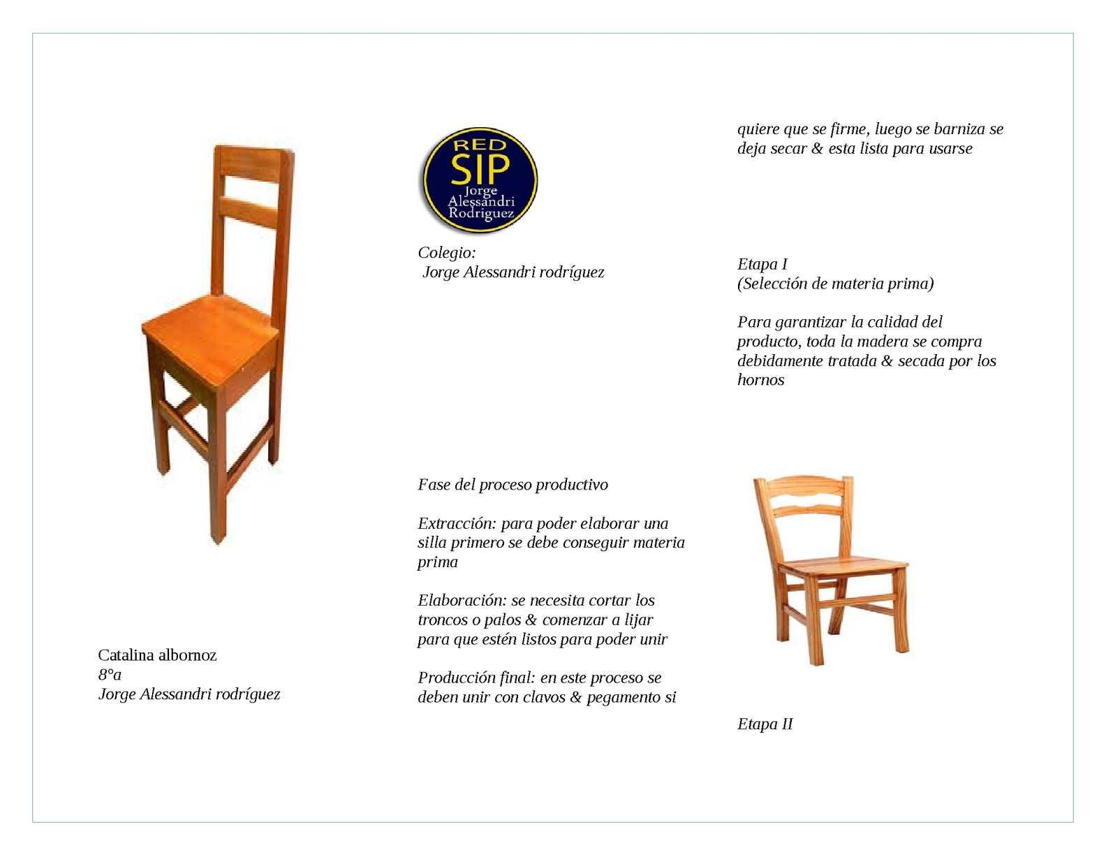 Calam o catalina 1 - Como se elabora una silla de madera ...