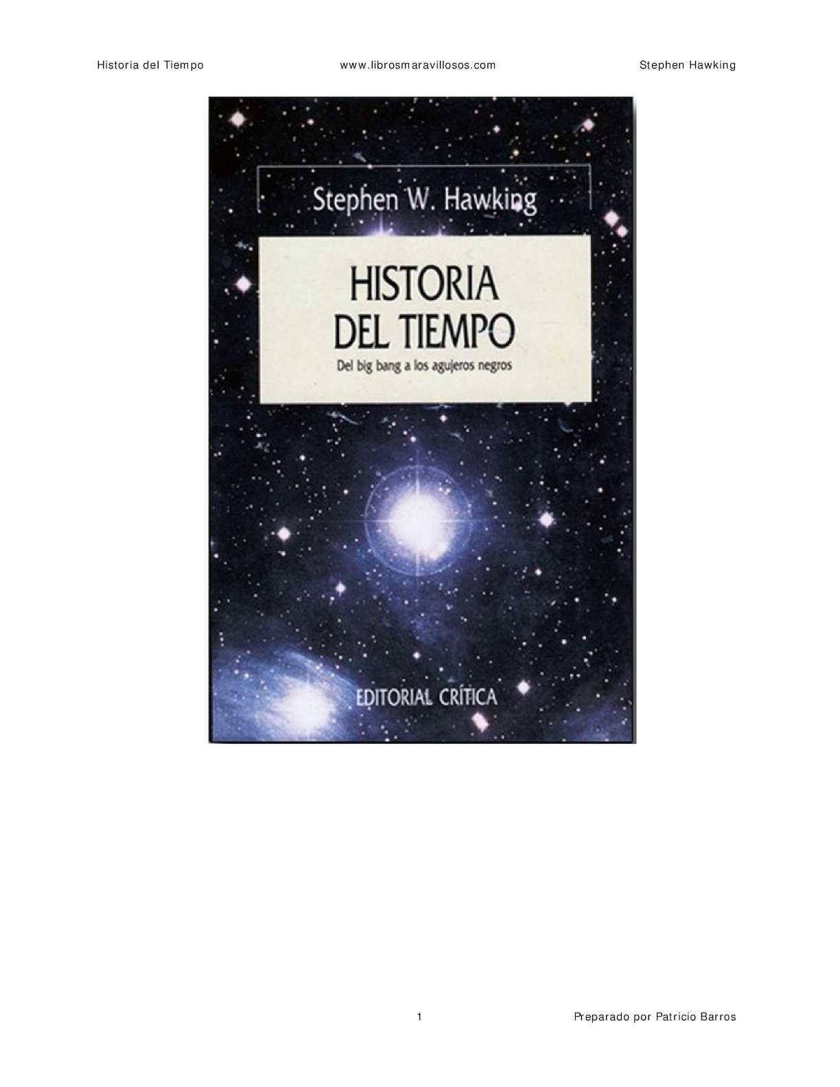 Historia Del Tiempo Stephen Hawking