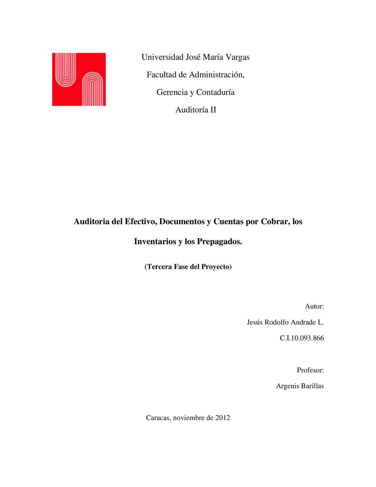 Calaméo - Auditoria Del Efectivo, Documentos Y Cuentas Por Cobrar ...
