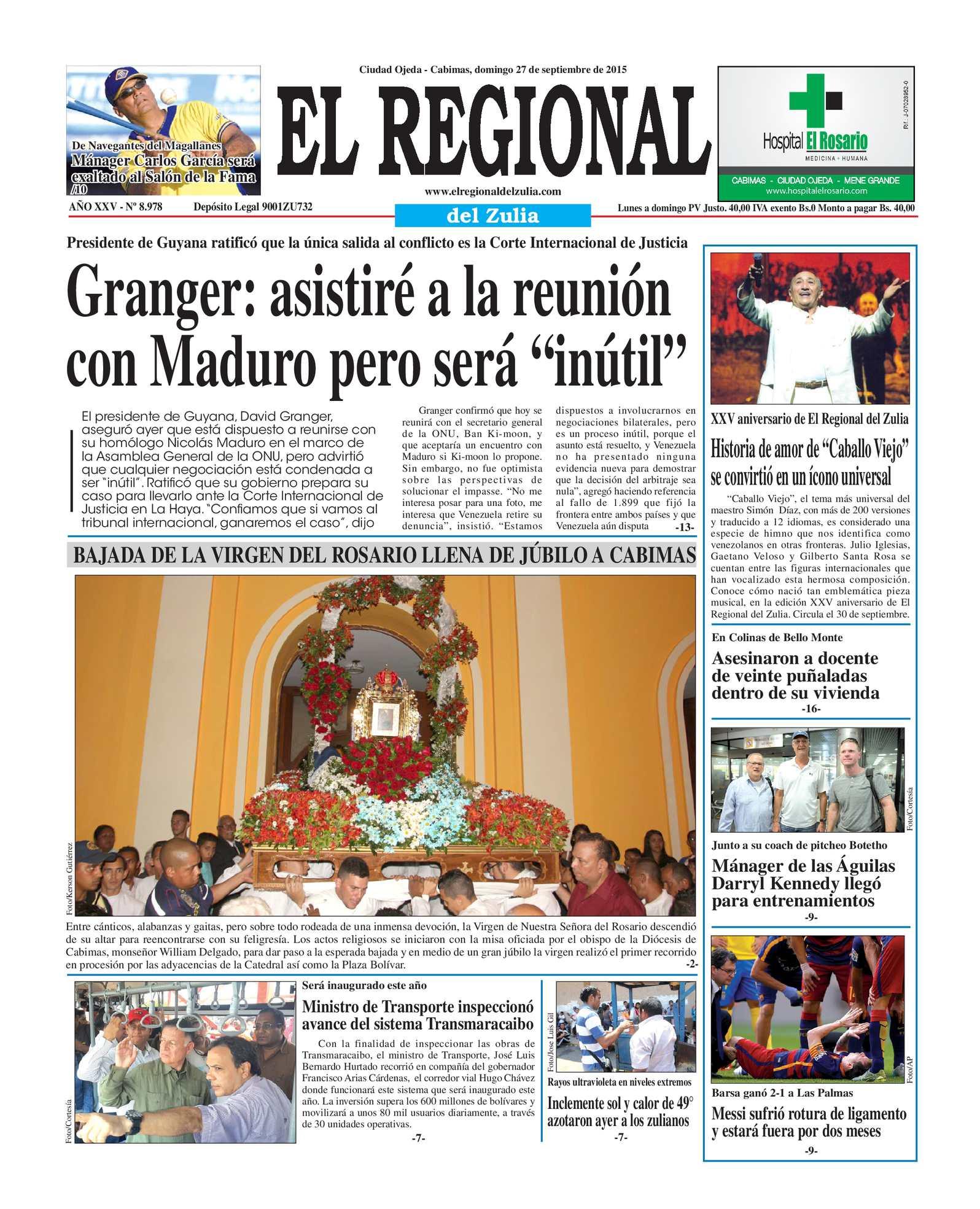 Calaméo - El Regional del Zulia 27-09-2015