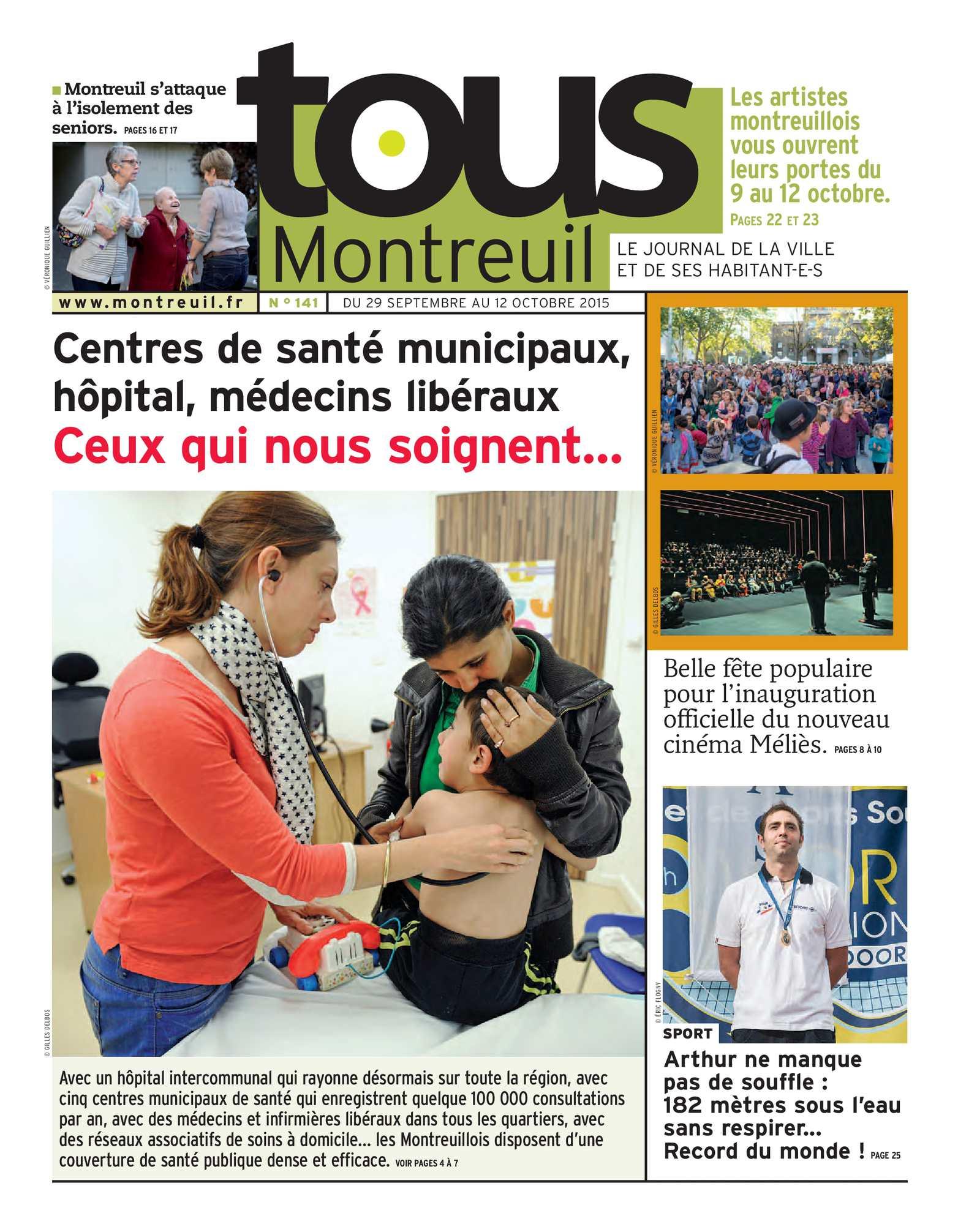 Calaméo  Tous Montreuil n°141  du 29 septembre au 12 octobre ~ Hopital De Montreuil Sous Bois
