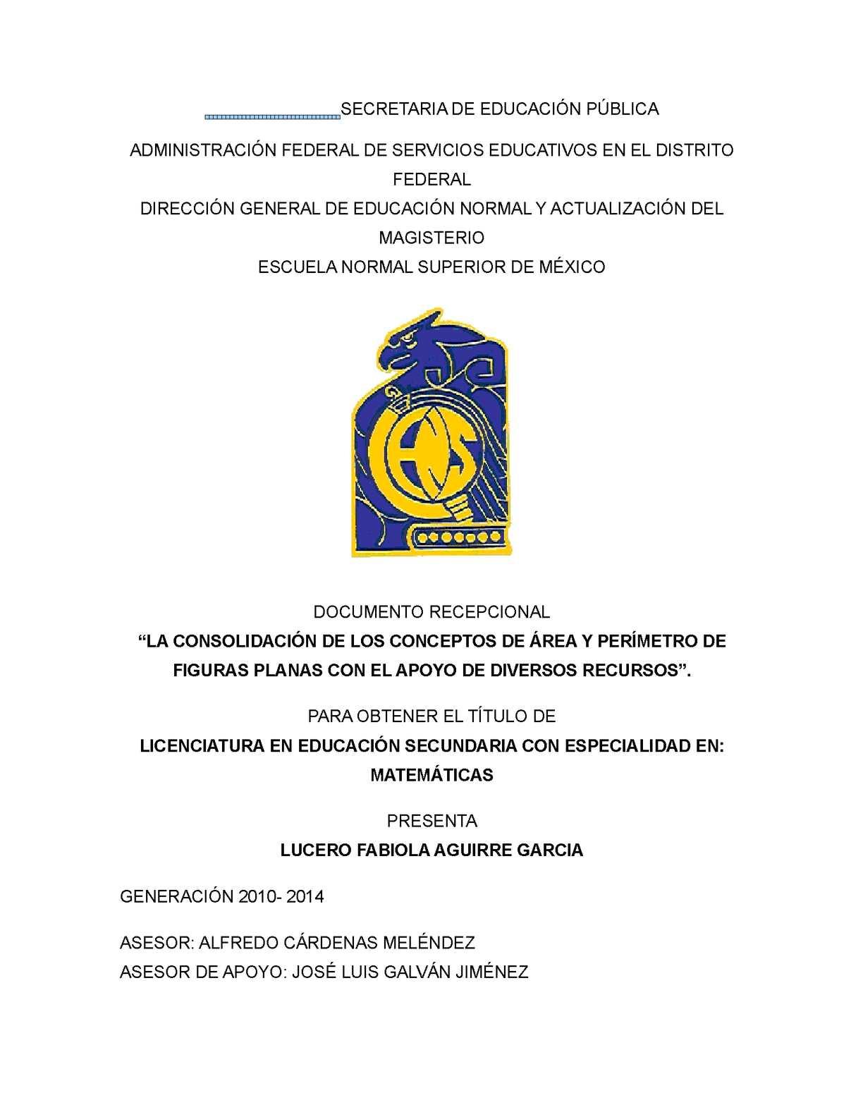 Calaméo - Documento Recepcional Areas y Perimetros