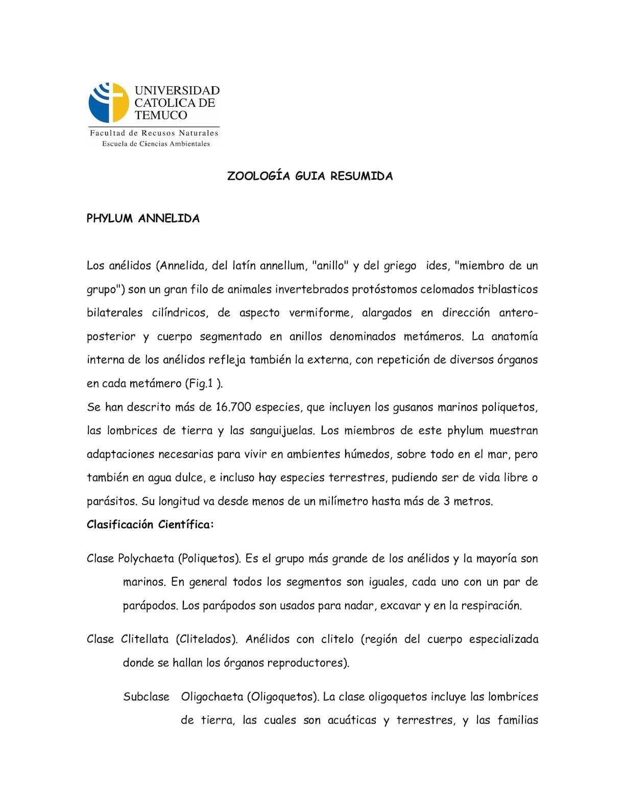 Calaméo - Versión Resumida Laboratorio Anelidos 2015