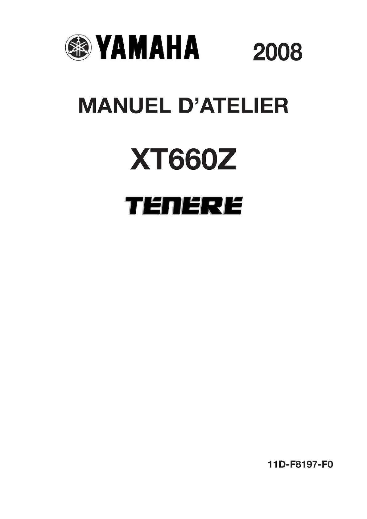Xt660z Manuel Technique Xt660z