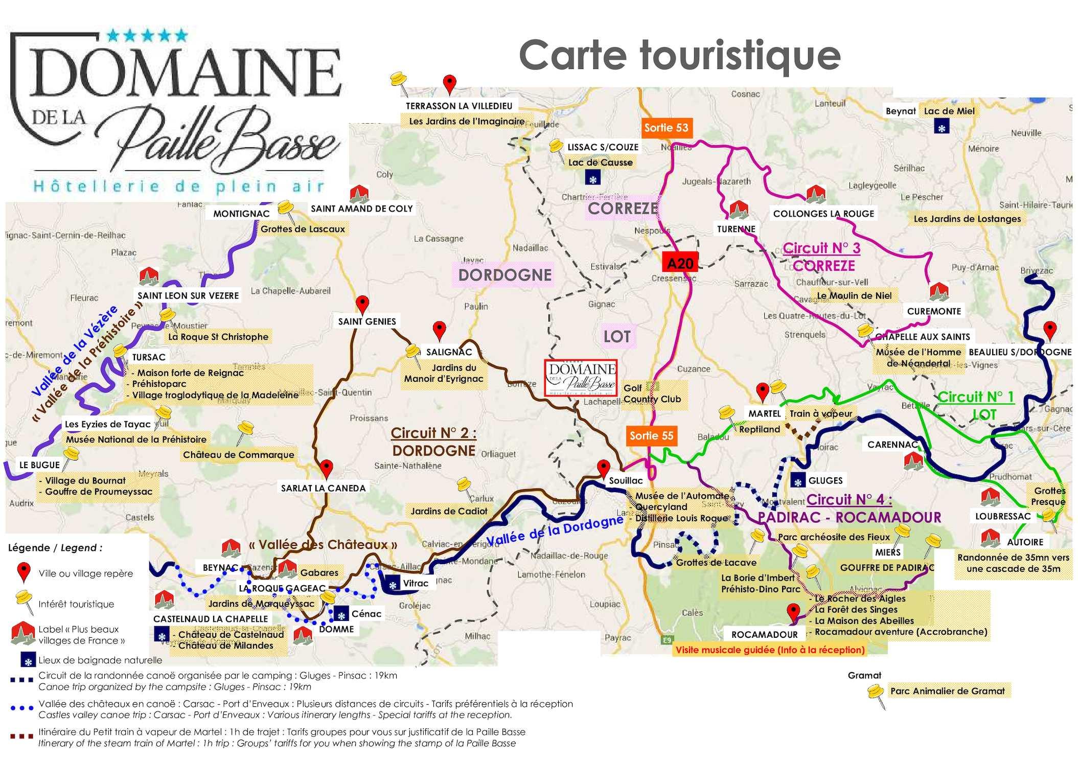 Calaméo - Carte Touristique de La Paille Basse