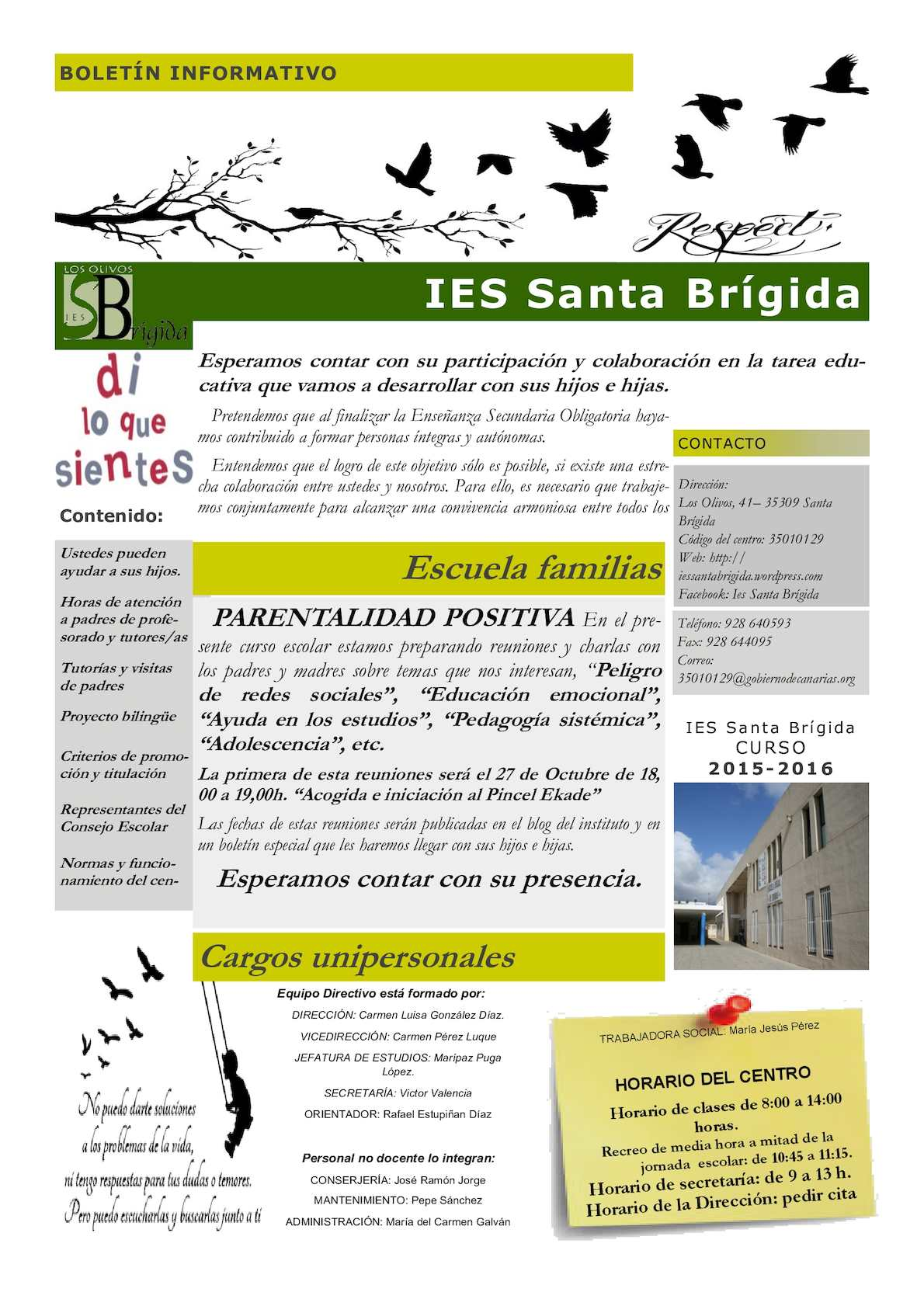 Boletin escolar 2015-16