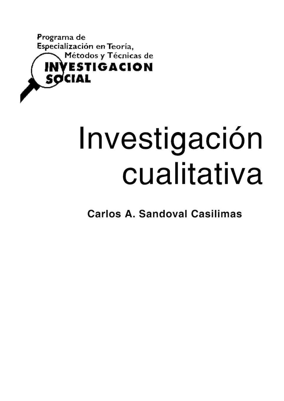 Calaméo - Libro Investigacion Cualitativa Sandoval