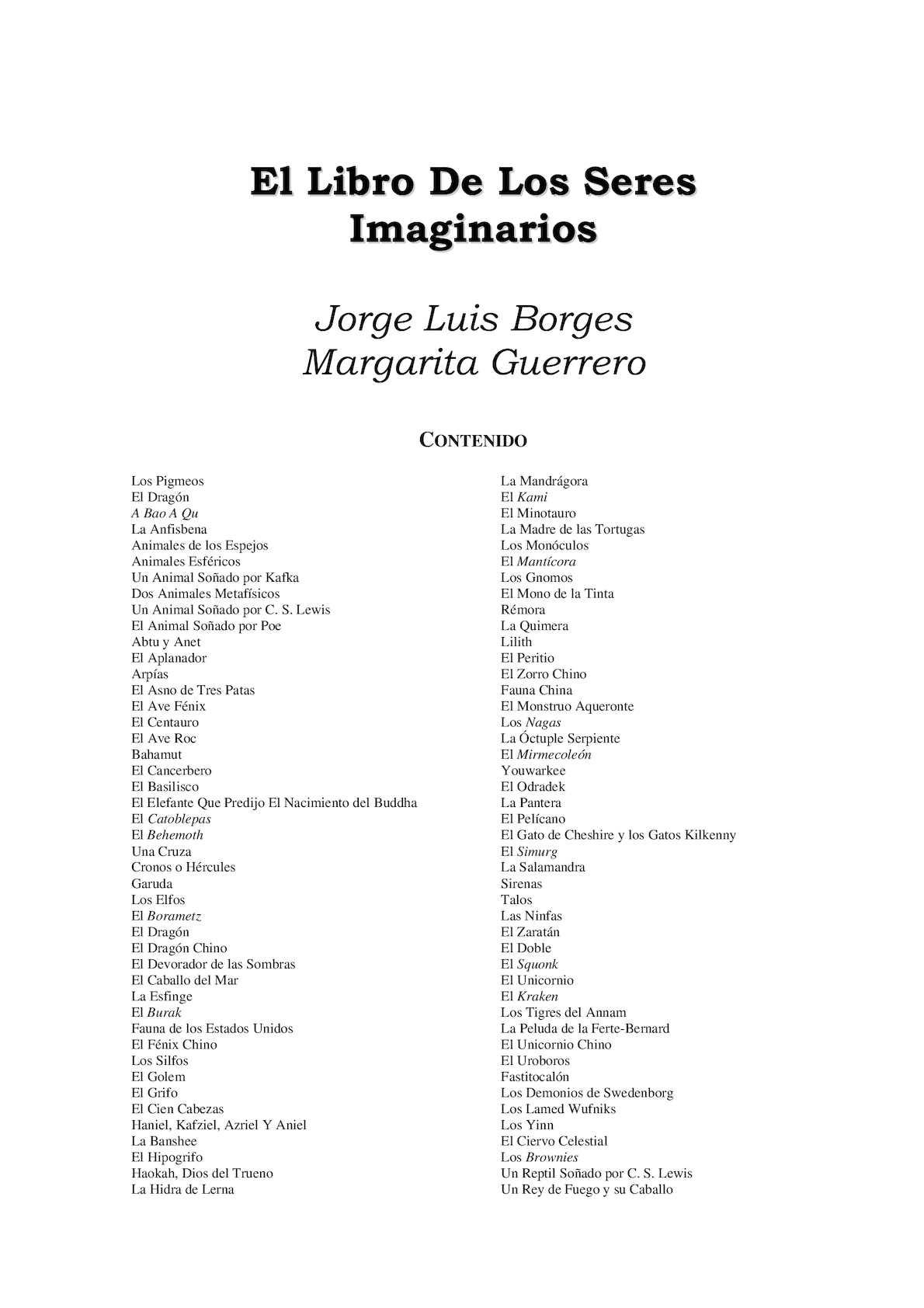 Calaméo - Libros De Borges