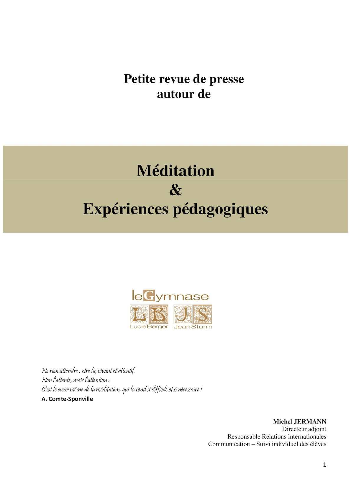 Revue de presse Méditation (1)