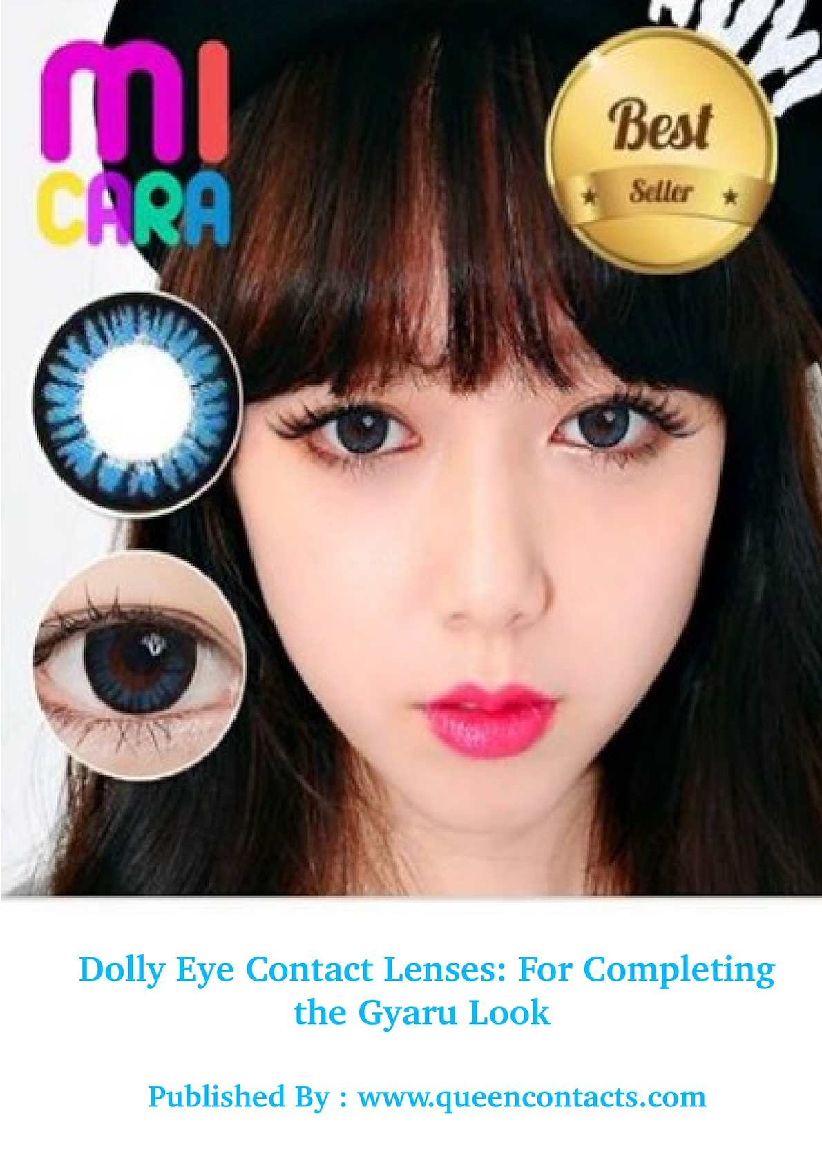 Calamo Dolly Eye Contact Lenses For Completing The Gyaru Look