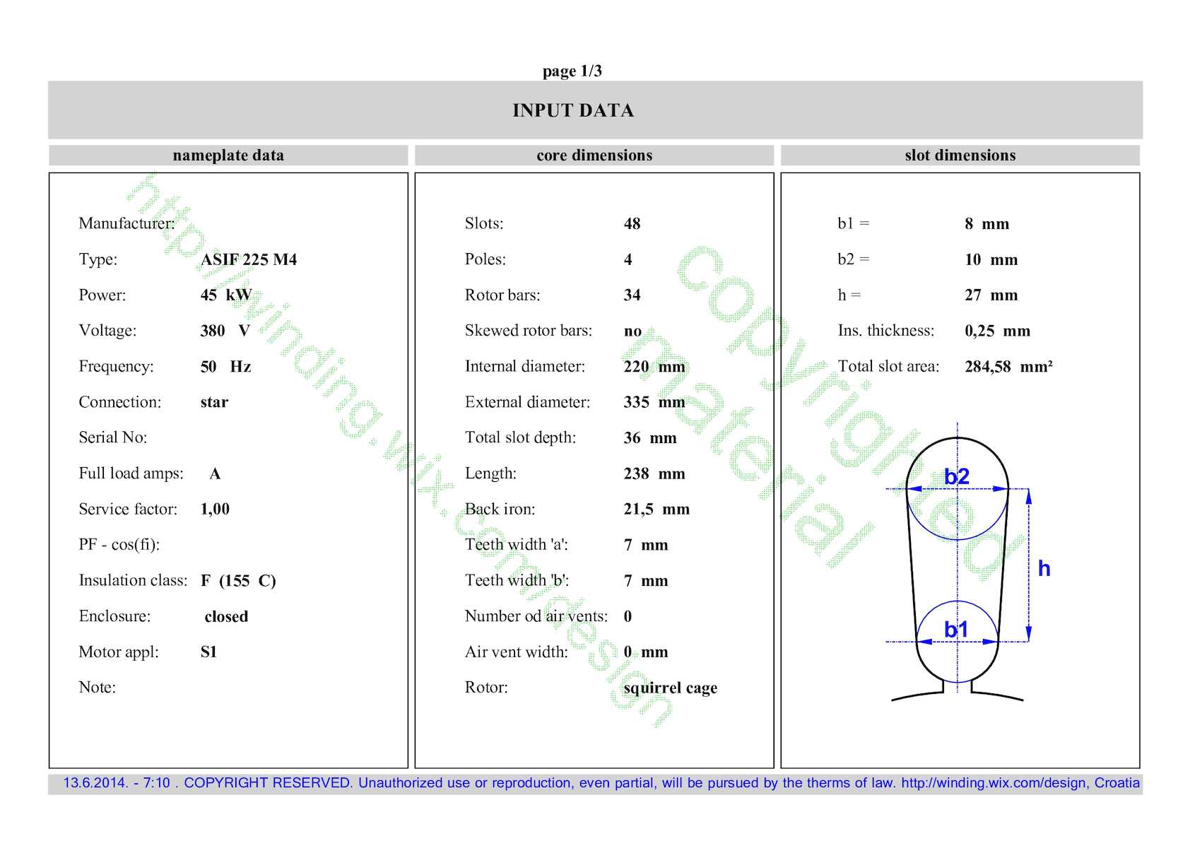 Calamo Example Calculation For 48 Slots And 4 Poles Wiring Diagram Pole 12 Lead Motor