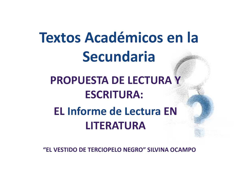 Calaméo - Textos Académicos En La Secundaria