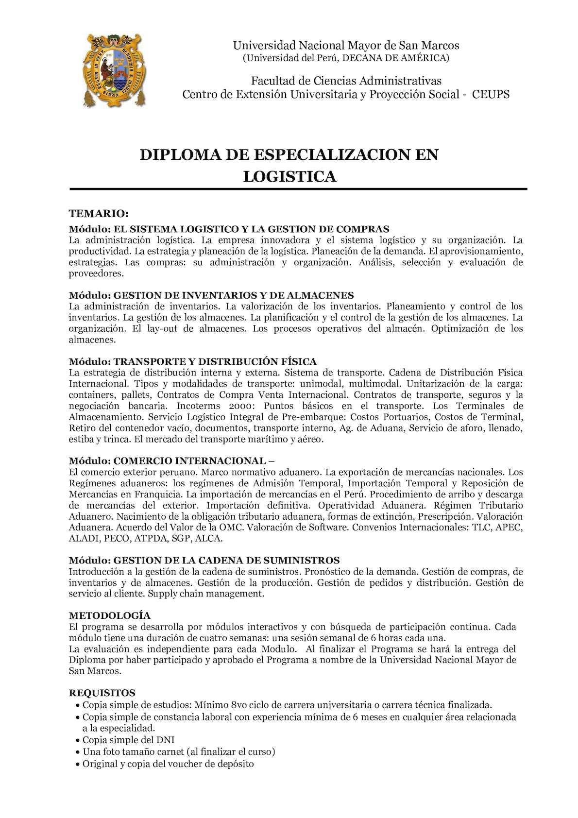 Calaméo - Syllabus Logistica