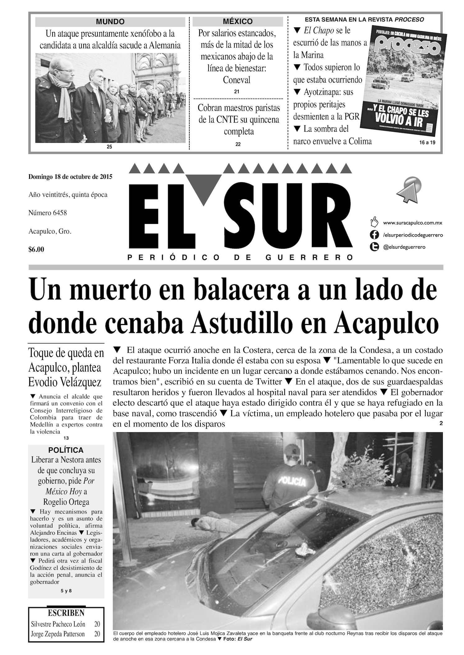 Calaméo - El Sur Domingo 18102015