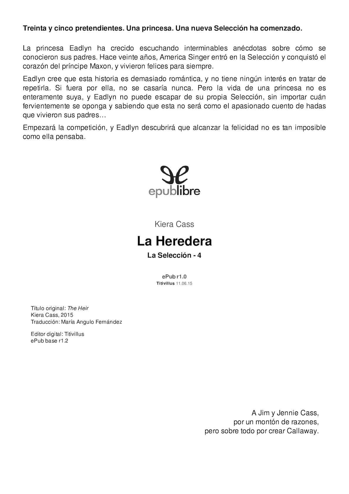 Calaméo - Cass, Kiera [La Seleccion 04] La Heredera [23045] (R1 0) (1)