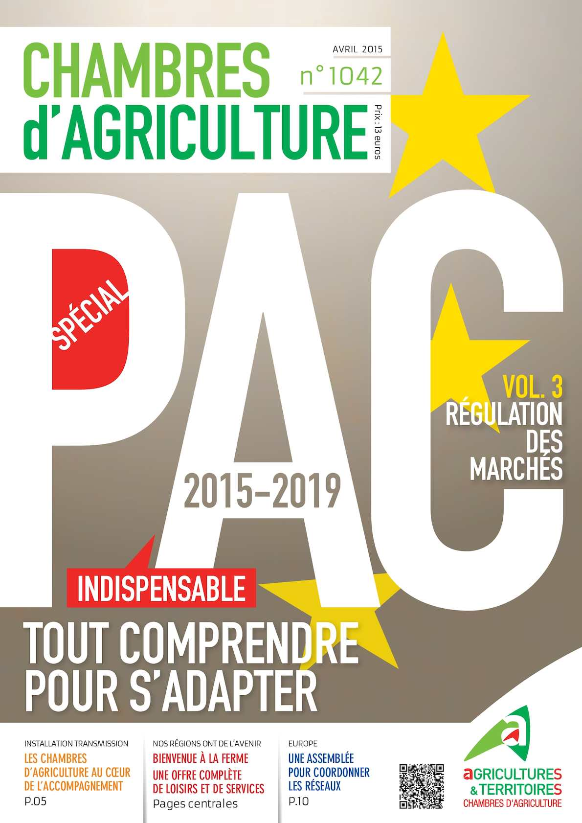 Calam o revue chambres agriculture 1042 avril 2015 for Chambre agriculture 13