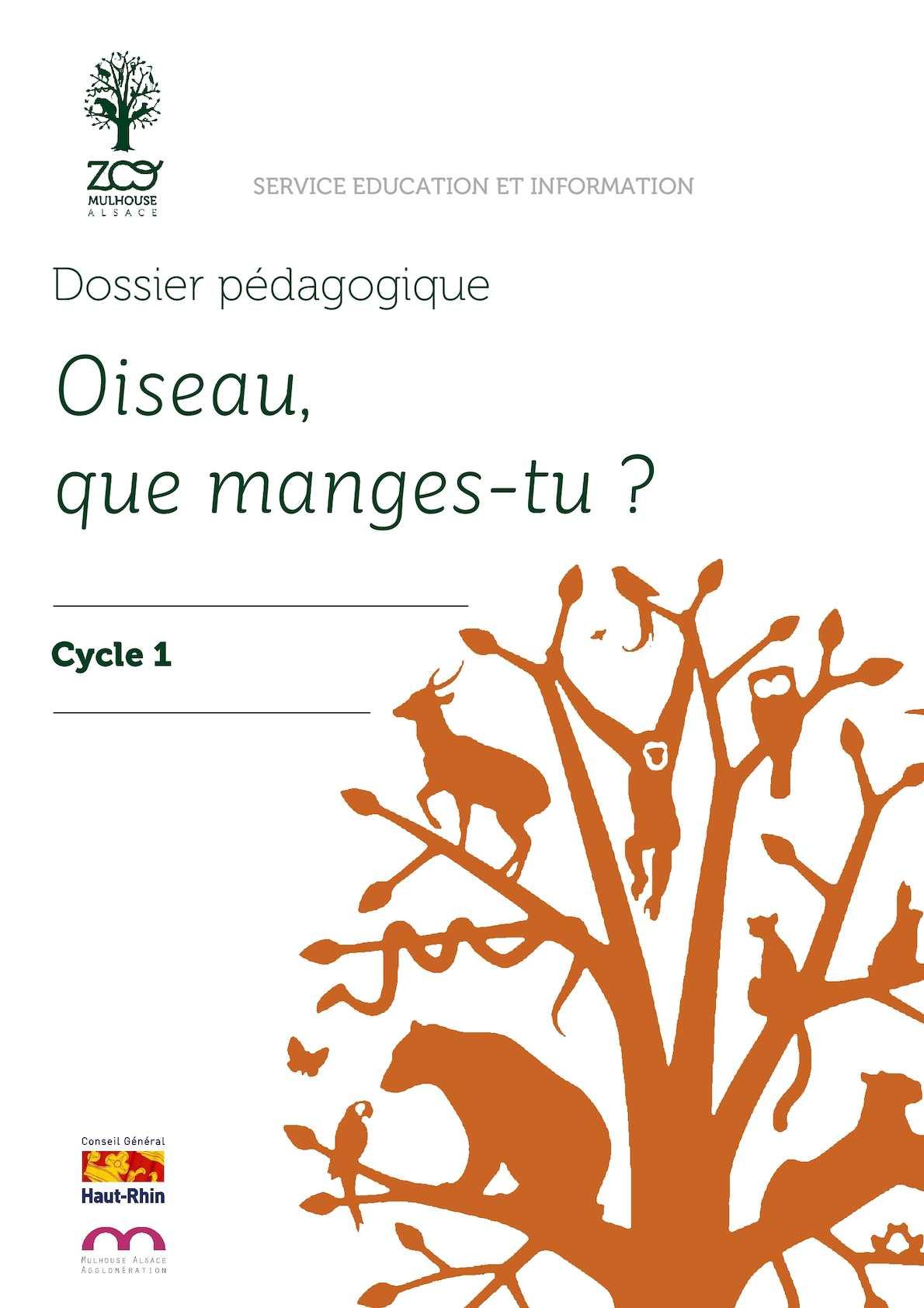Oiseau Que Manges Tu (cycle 1)