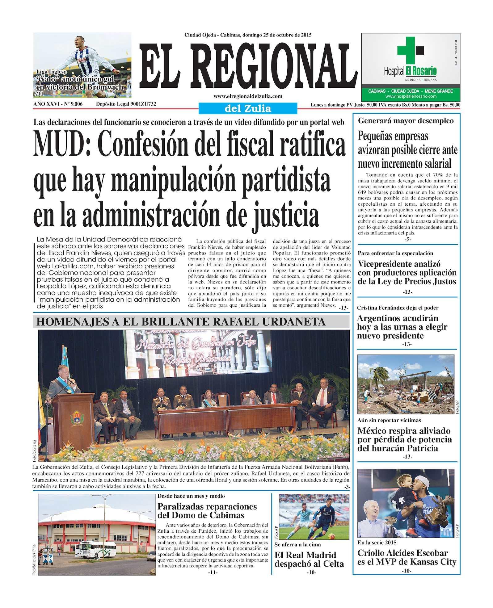 Calaméo - El Regional del Zulia 25-10-2015