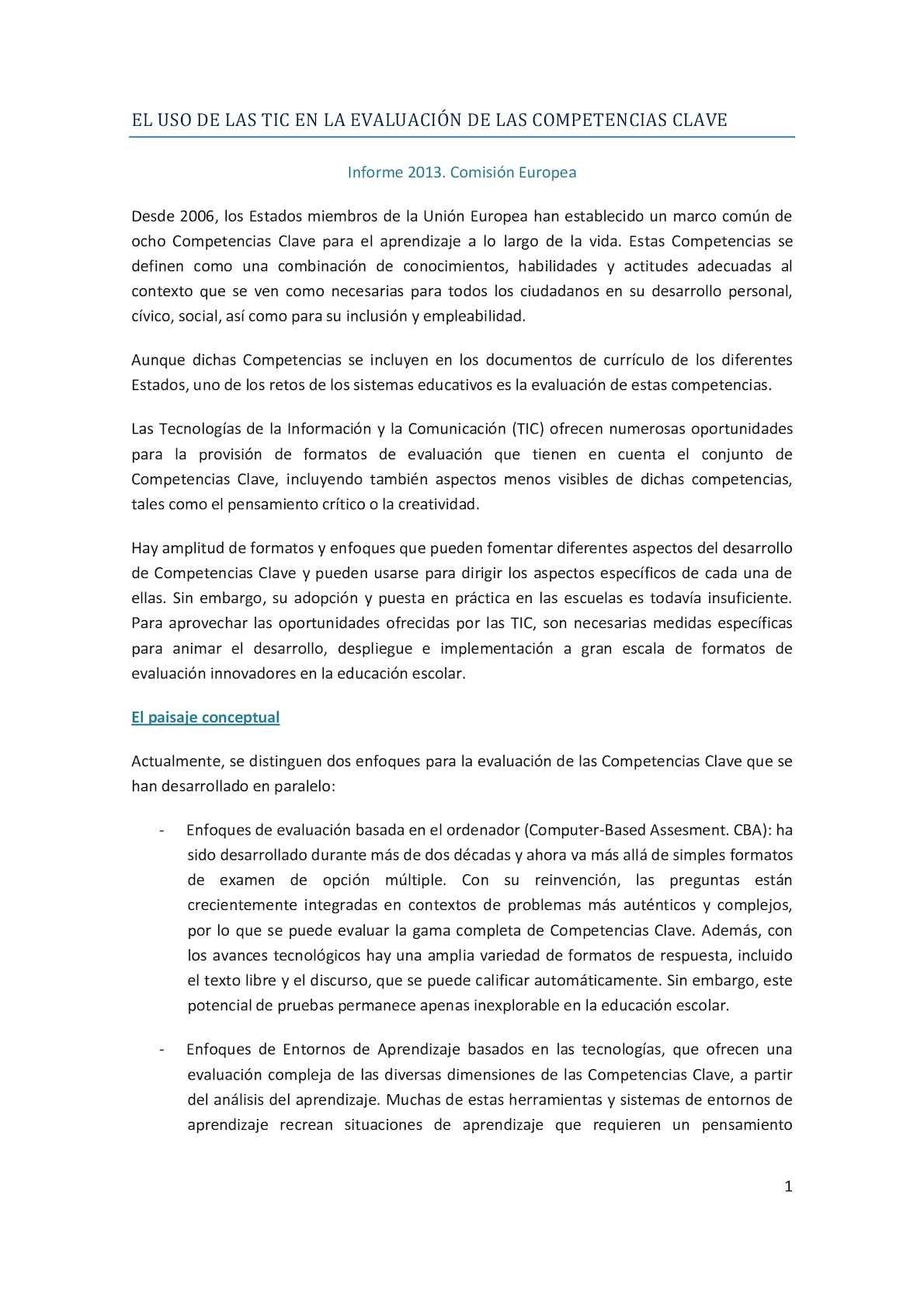 Calaméo - El Uso De Las Tic En La Evaluación De Las Competencias Clave