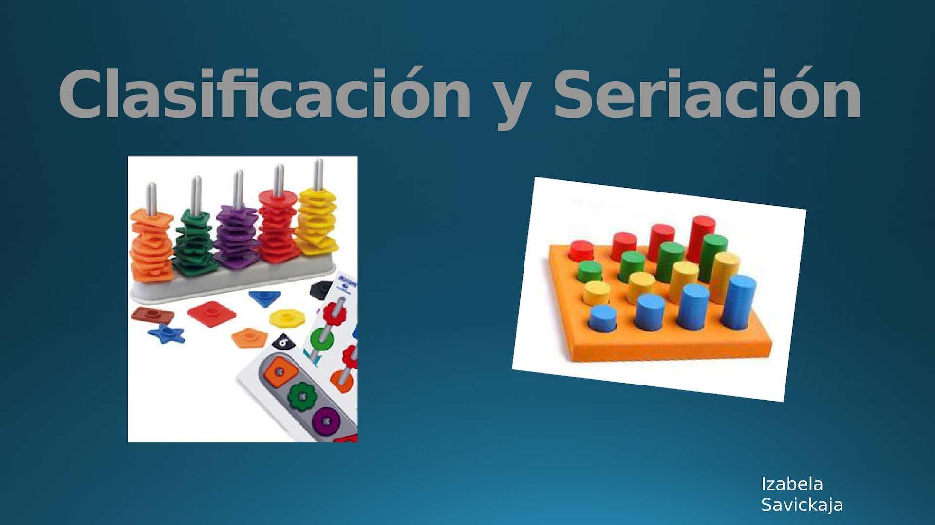 Clasificación Y Seriacion
