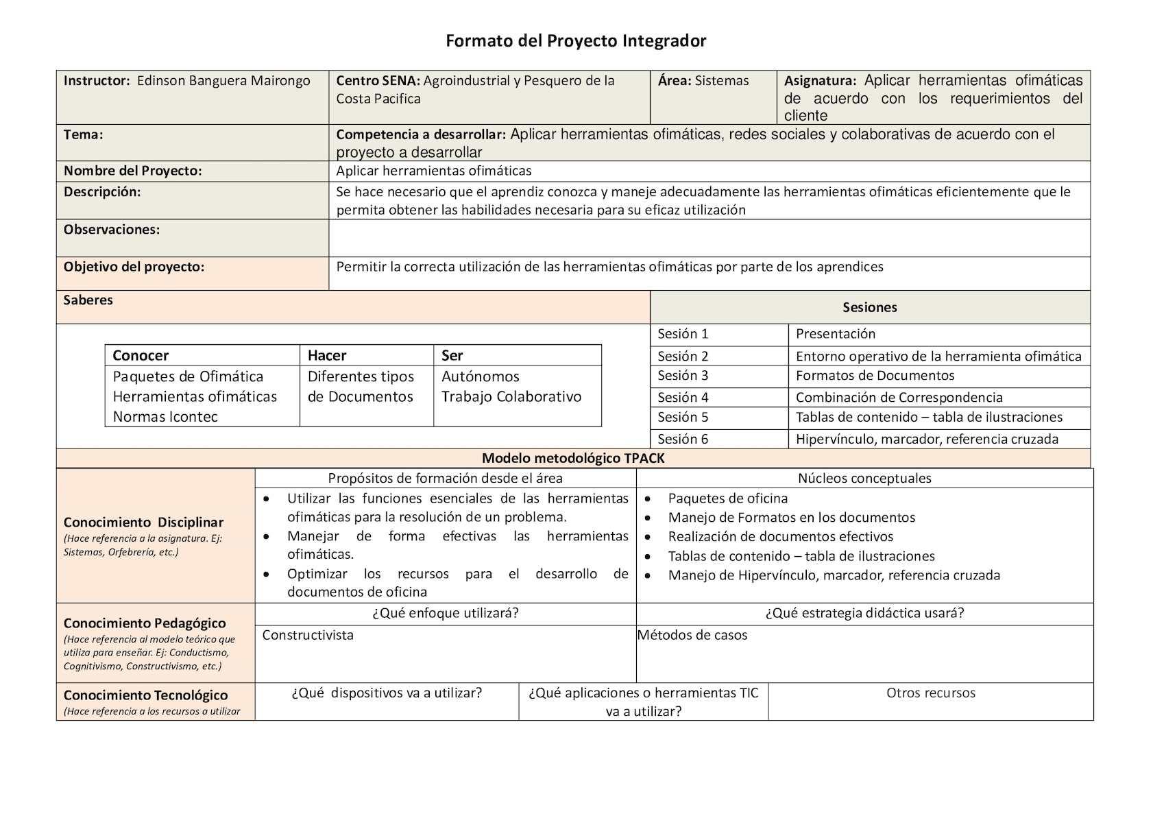 Calaméo - Formato Proyecto Integrador Edinson Banguera Mairongo