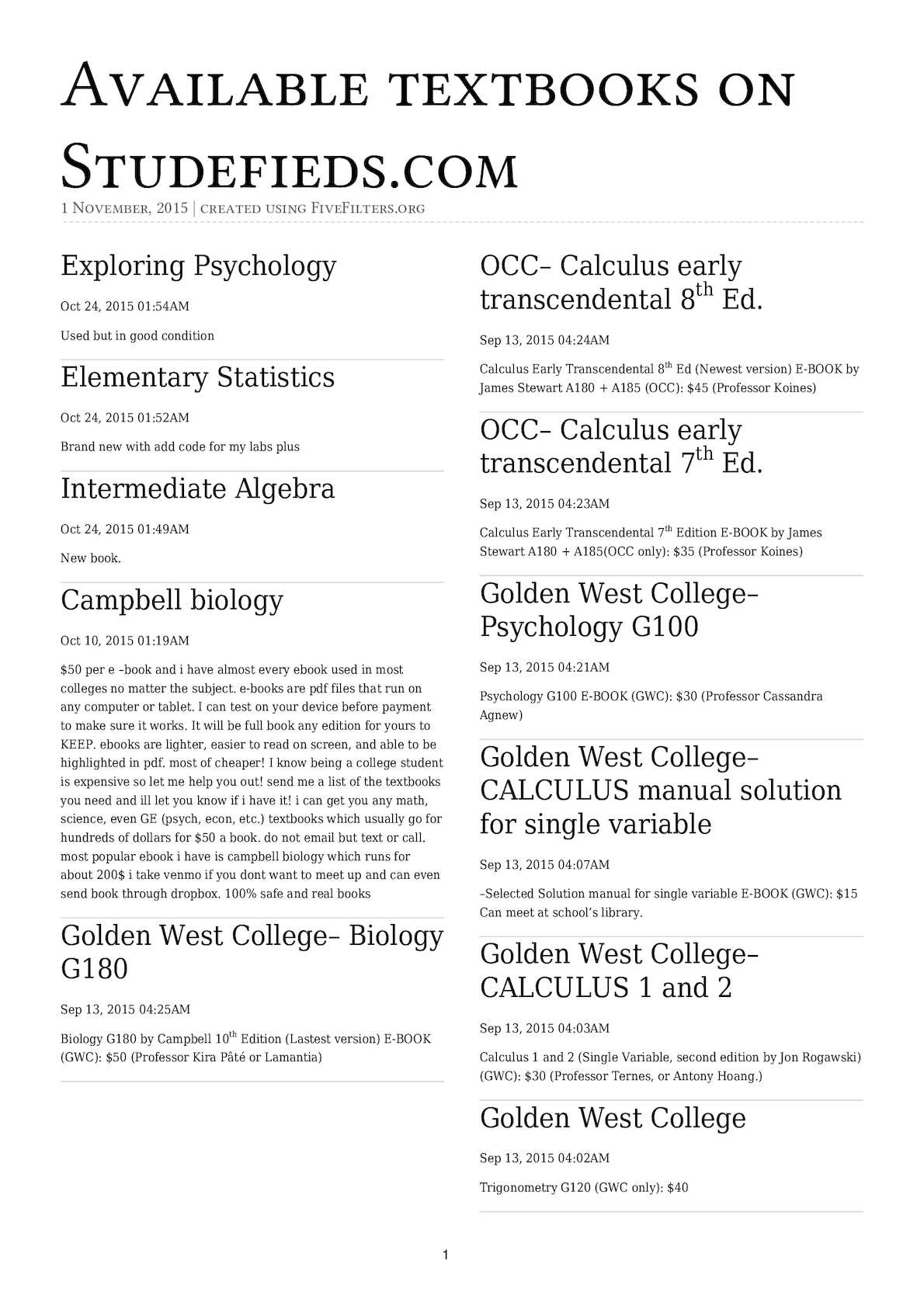 Calamo available textbooks on studefiedscom fandeluxe Image collections