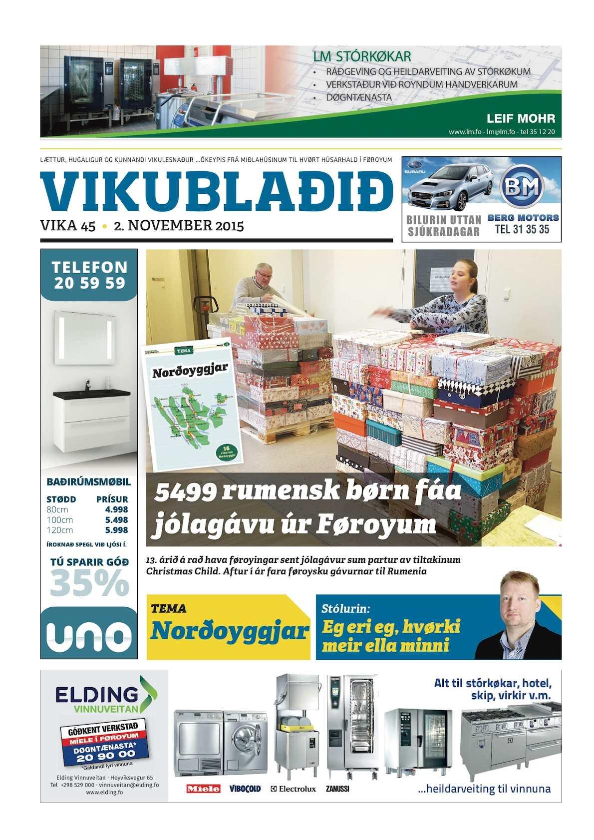 Vikublaðið  2. nov. 2015