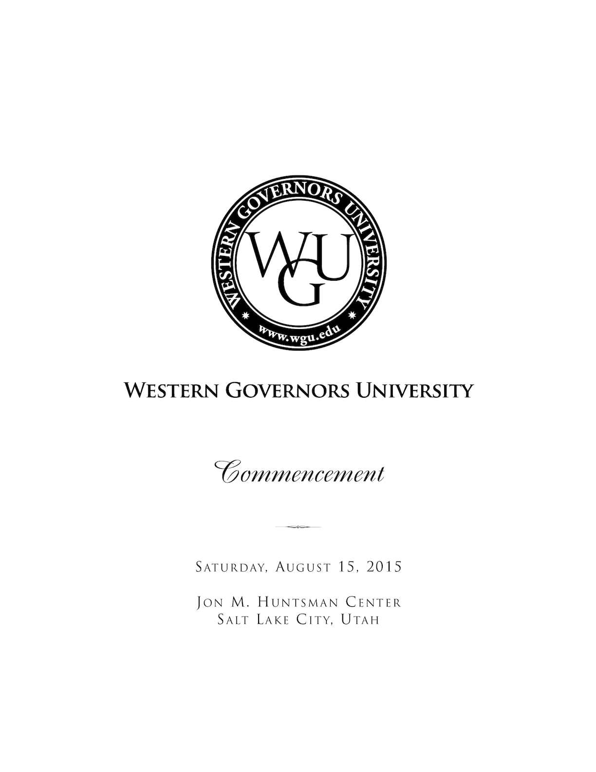 Calaméo - Summer 2015 Commencement Program Book