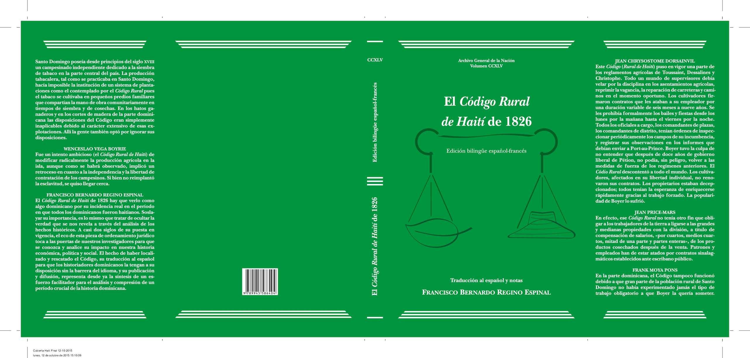 Calaméo - Vol 245 Codigo Rural De Haiti De 1826