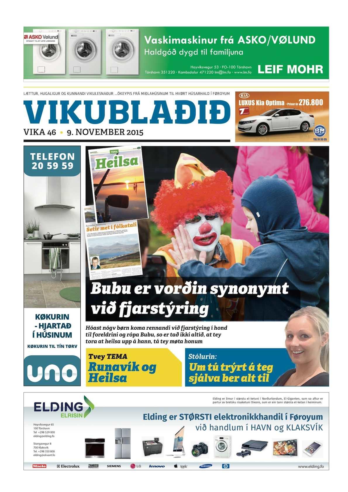 Vikublaðið  9. nov. 2015