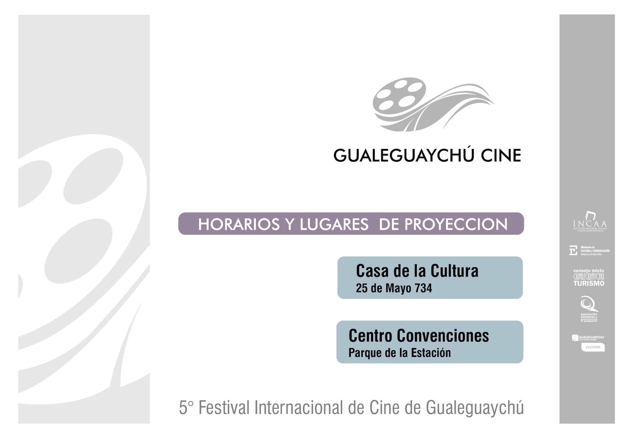 Programa Gualeguaychú Cine 5