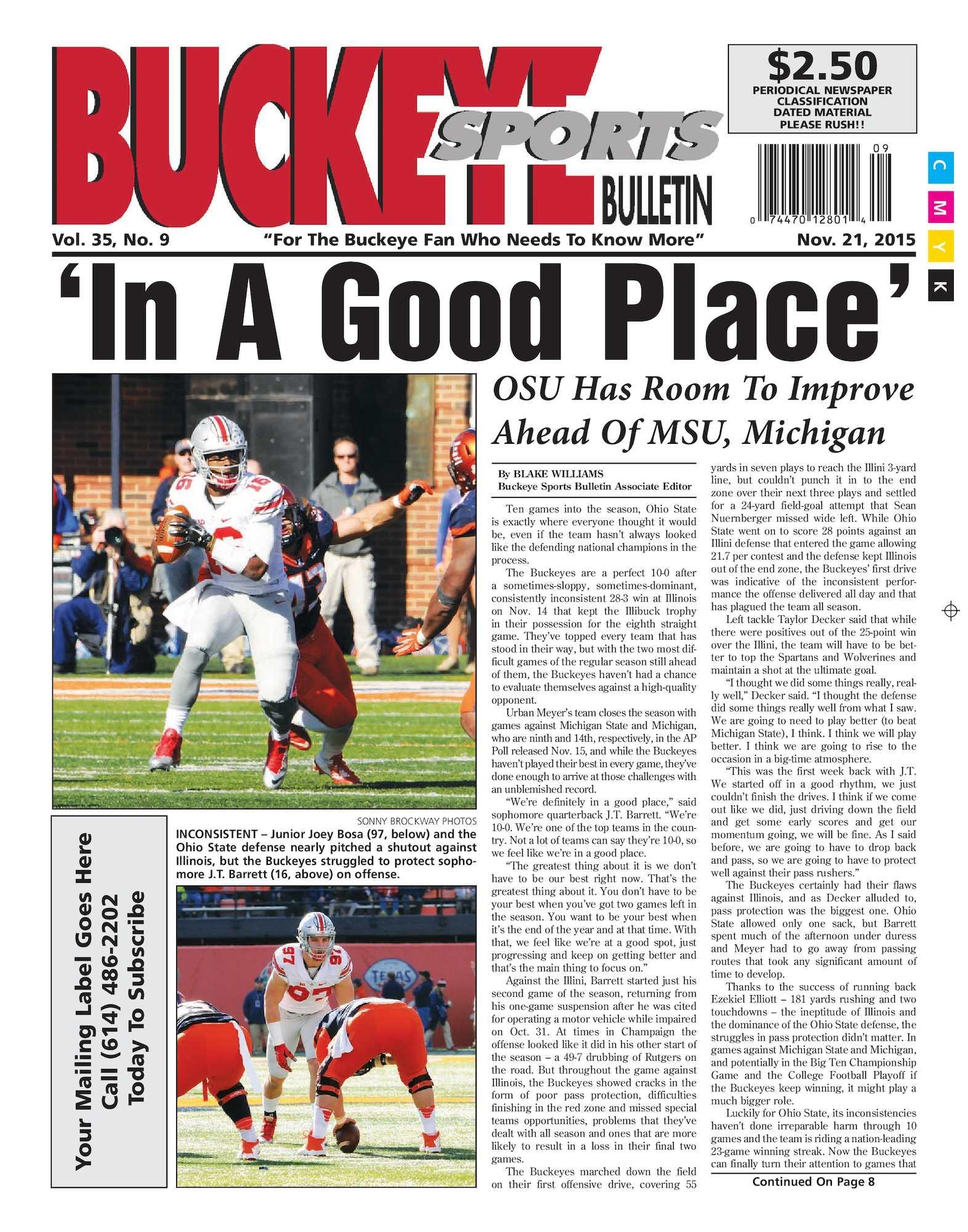 Calaméo Buckeye Sports Bulletin November 21 2015