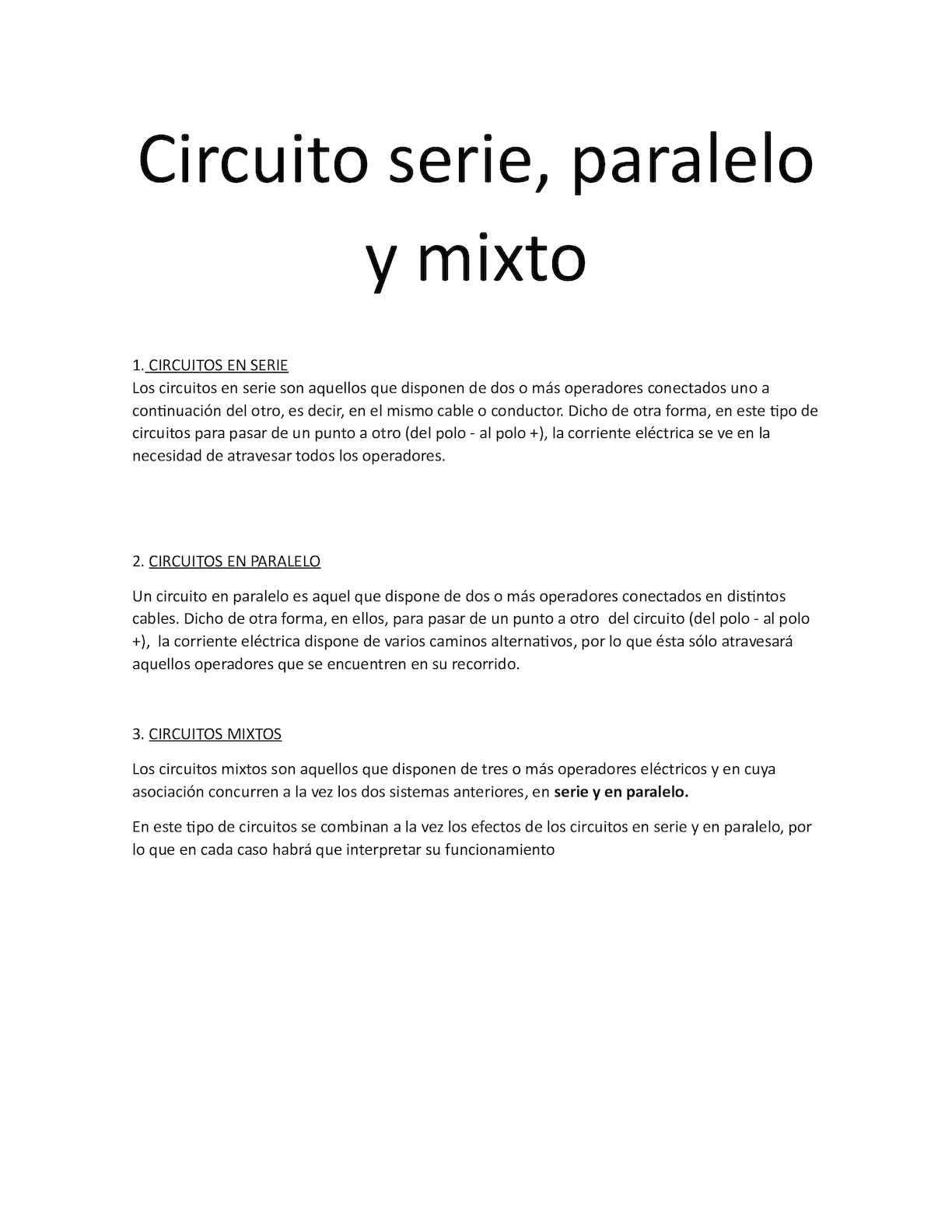 Circuito En Serie : Calaméo circuito serie paralelo mixto