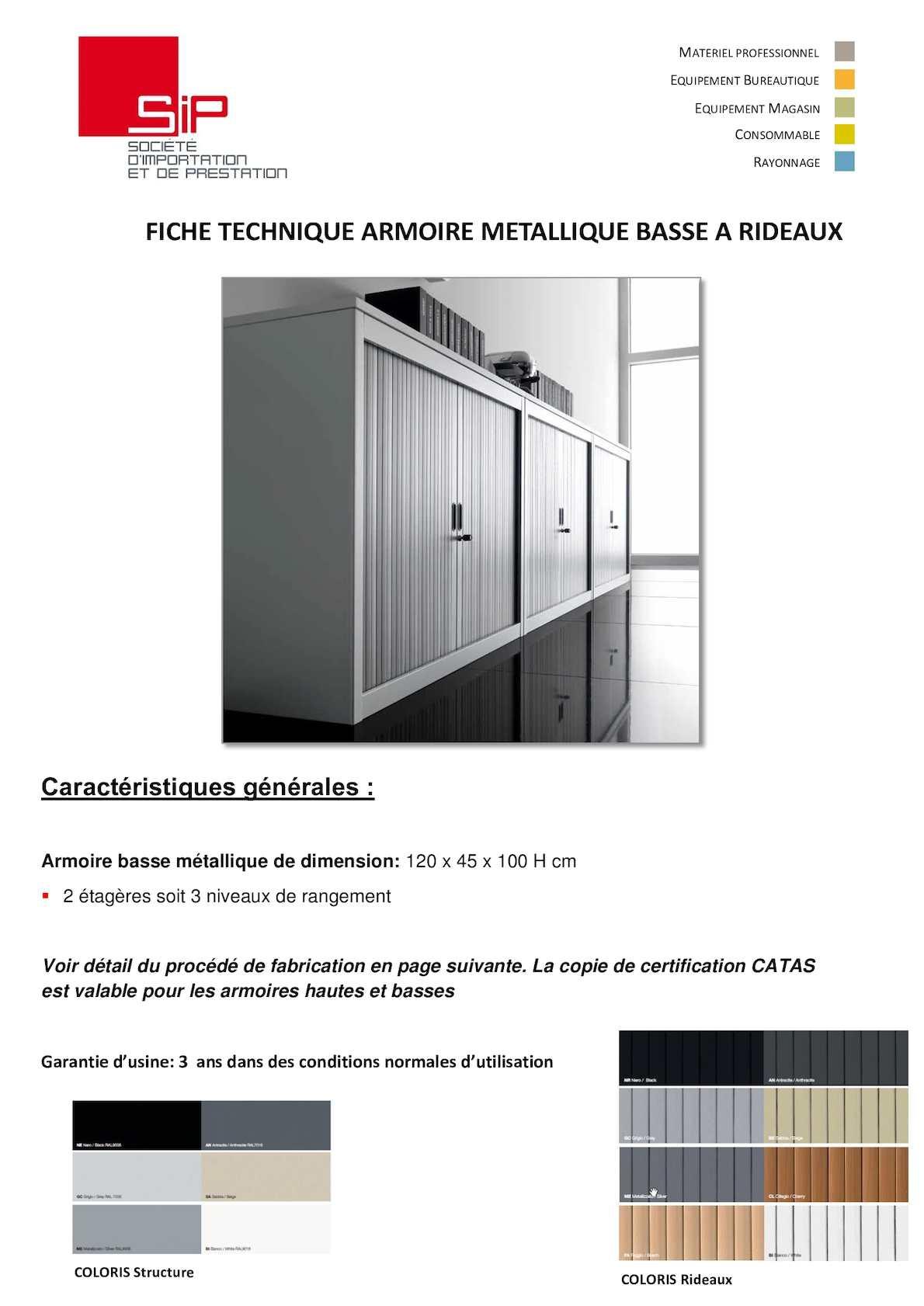 Calaméo - Fiches Techniques Armoires Site