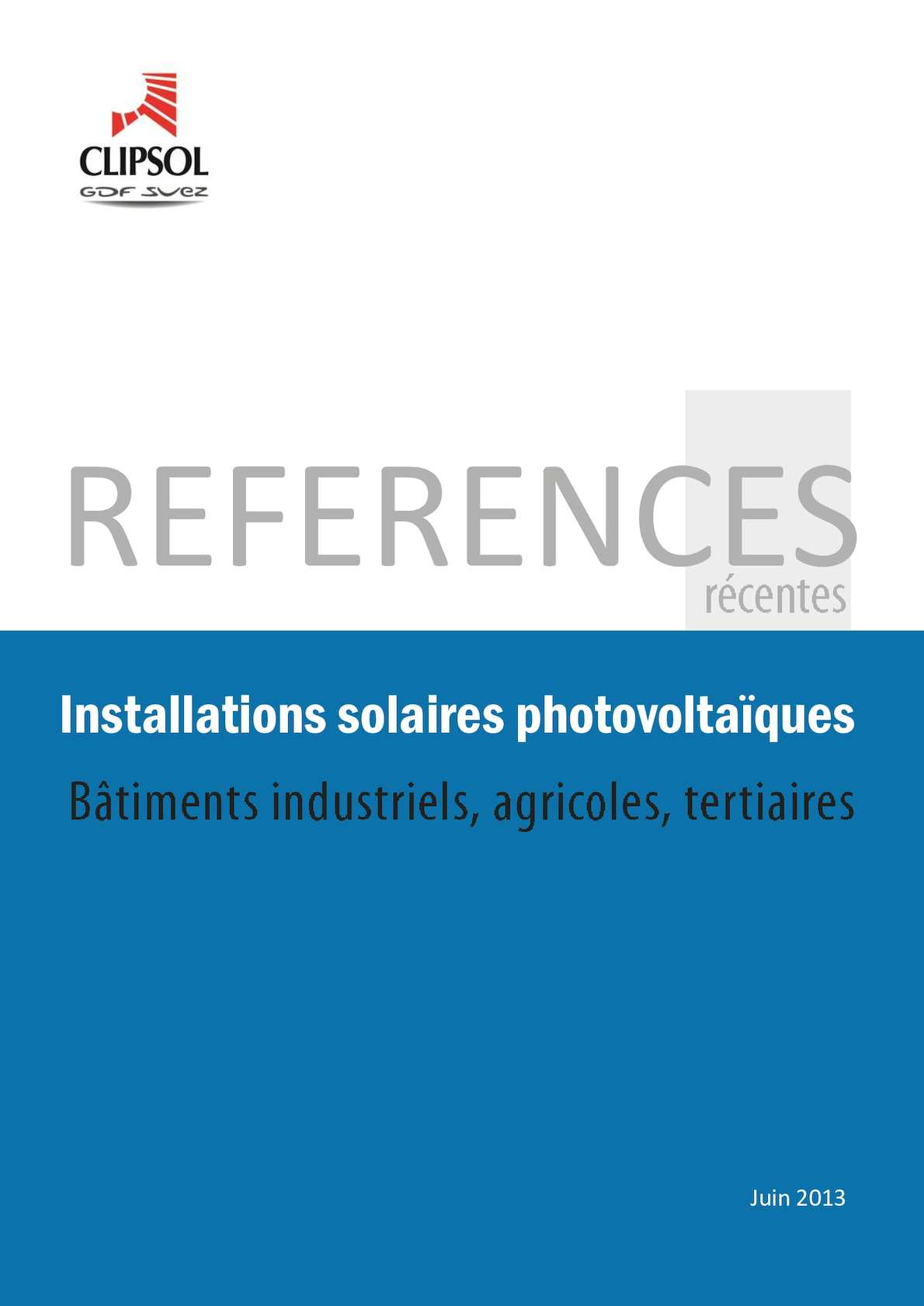 References CENTRALES PHOTOVOLTAIQUES CLIPSOL