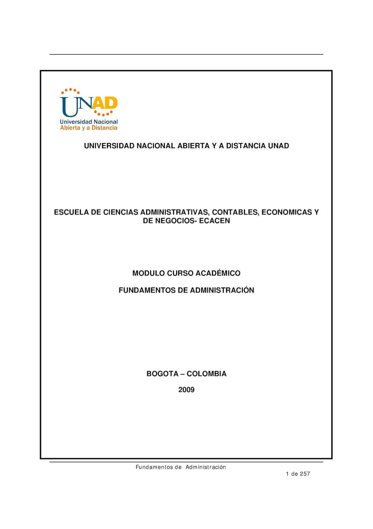 Calaméo - Modulo Fundamentos De Administracion Una (1)