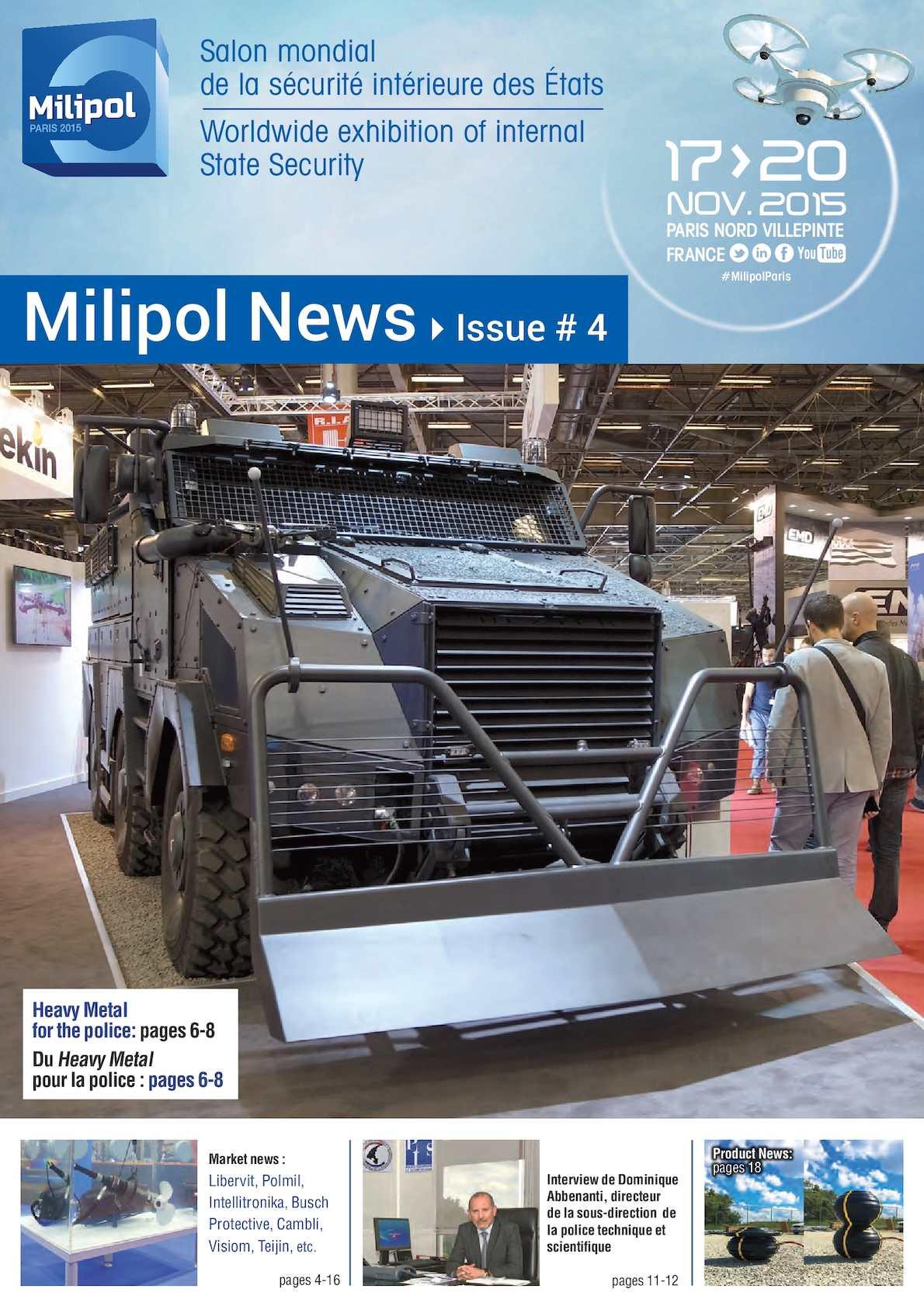 Calam o milipol 2015 daily news 04 for Salon milipol