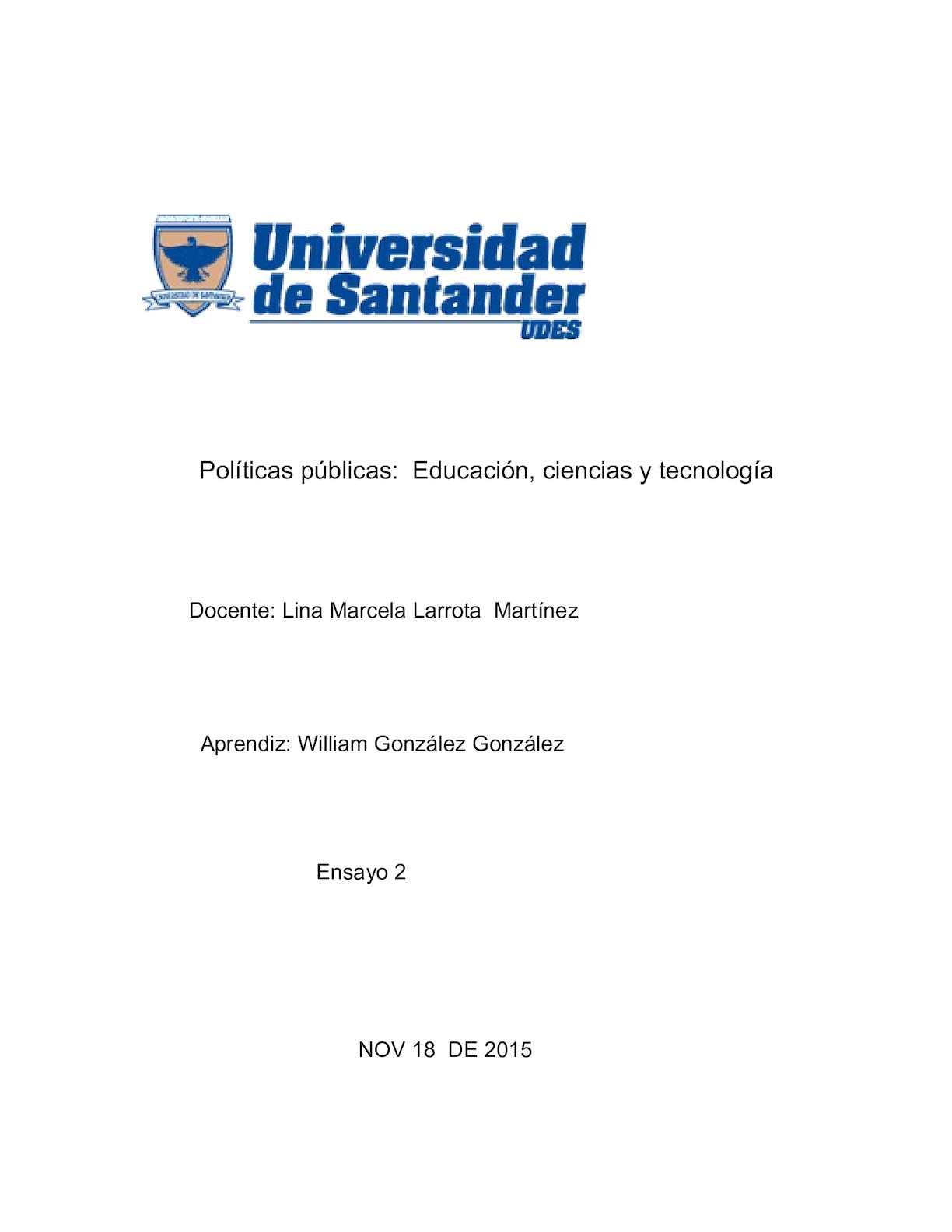 William Gonzalez Gonzalez Ensayo Actividad2 2 Doc
