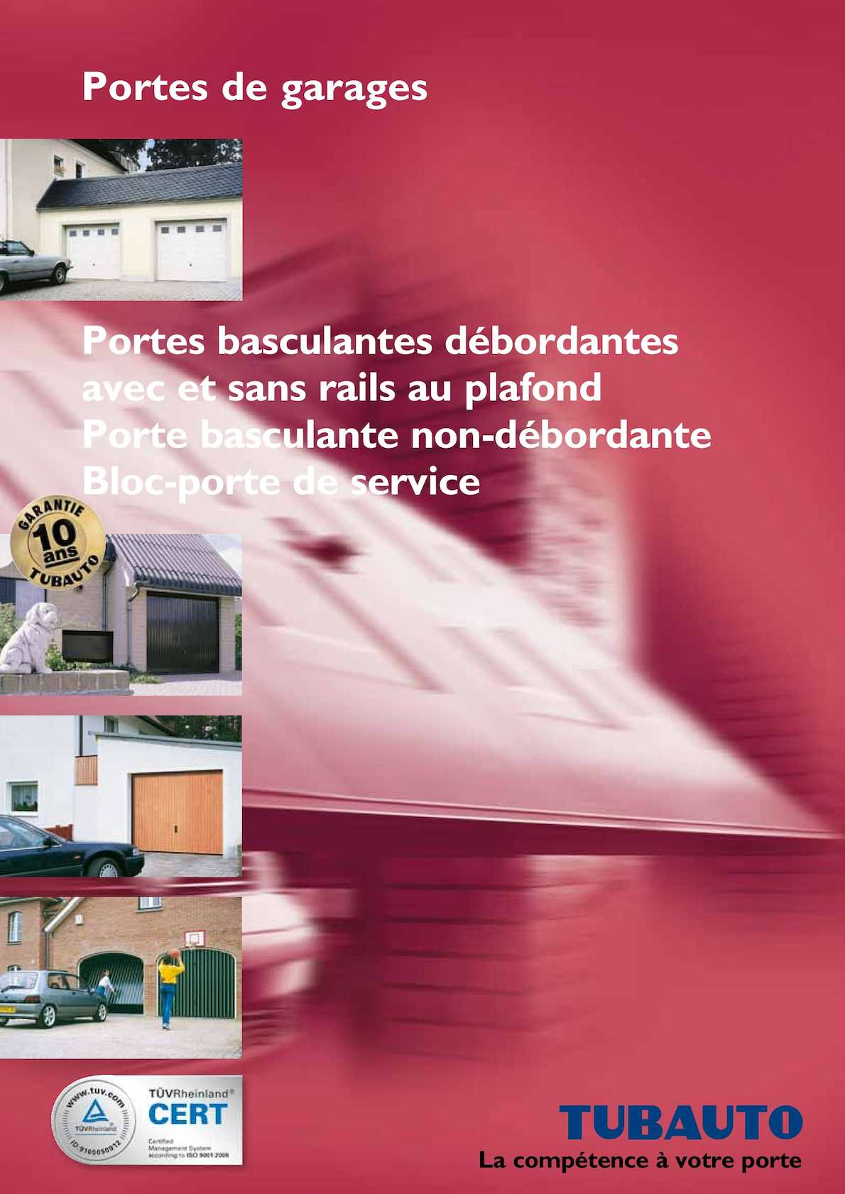 Calam o catalogue tubauto portes de garage for Porte de garage tubauto point p