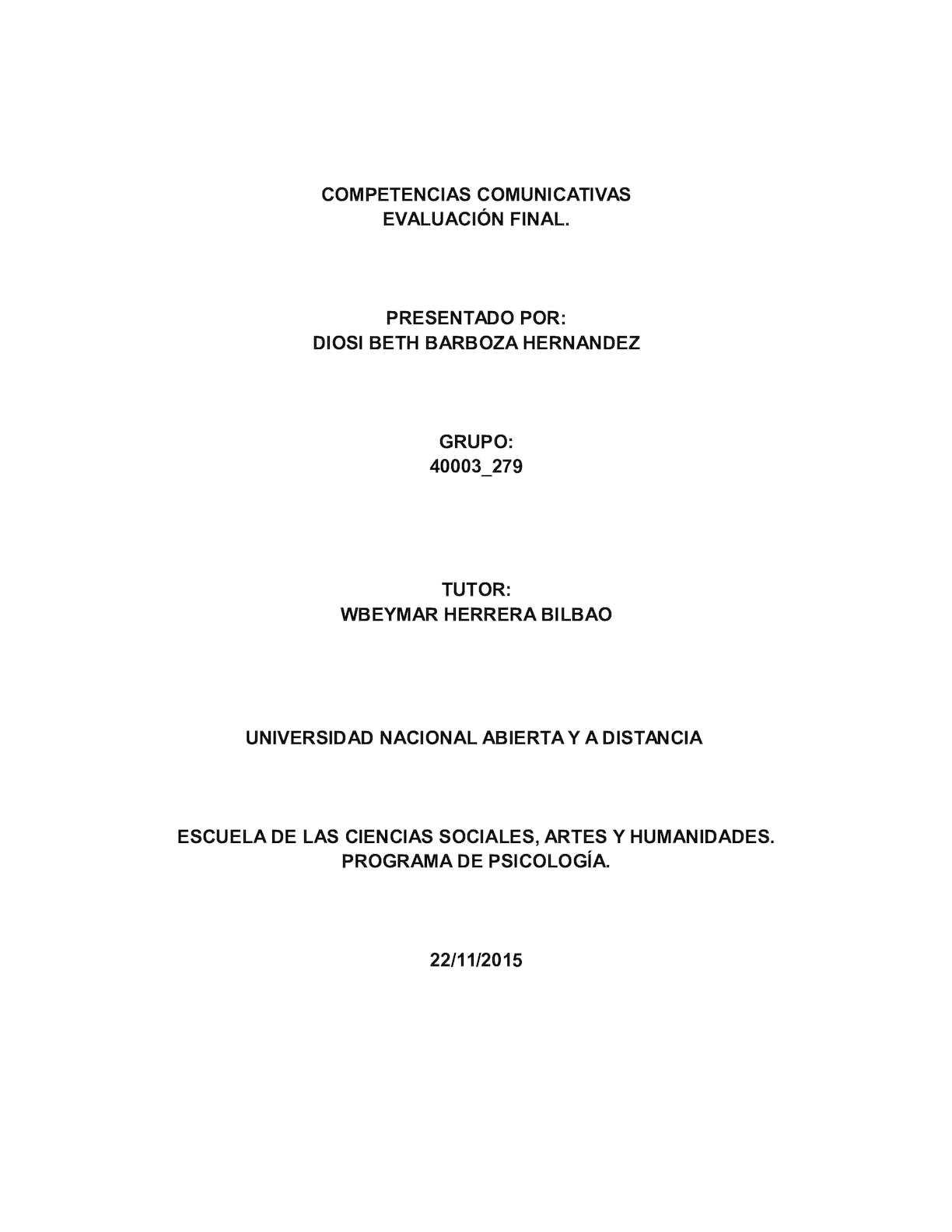 Evaluacion Final Competencias Comunicativas