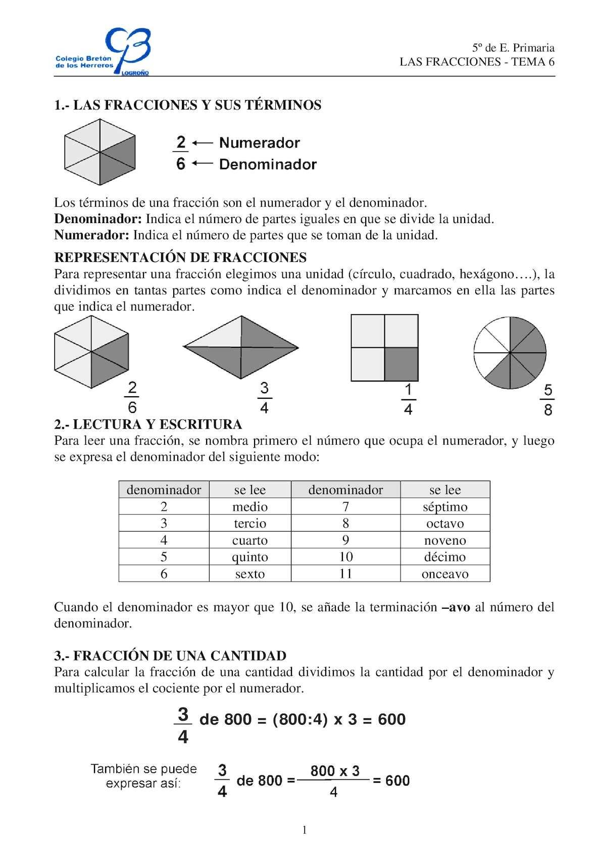 Calaméo - Apuntes Fracciones