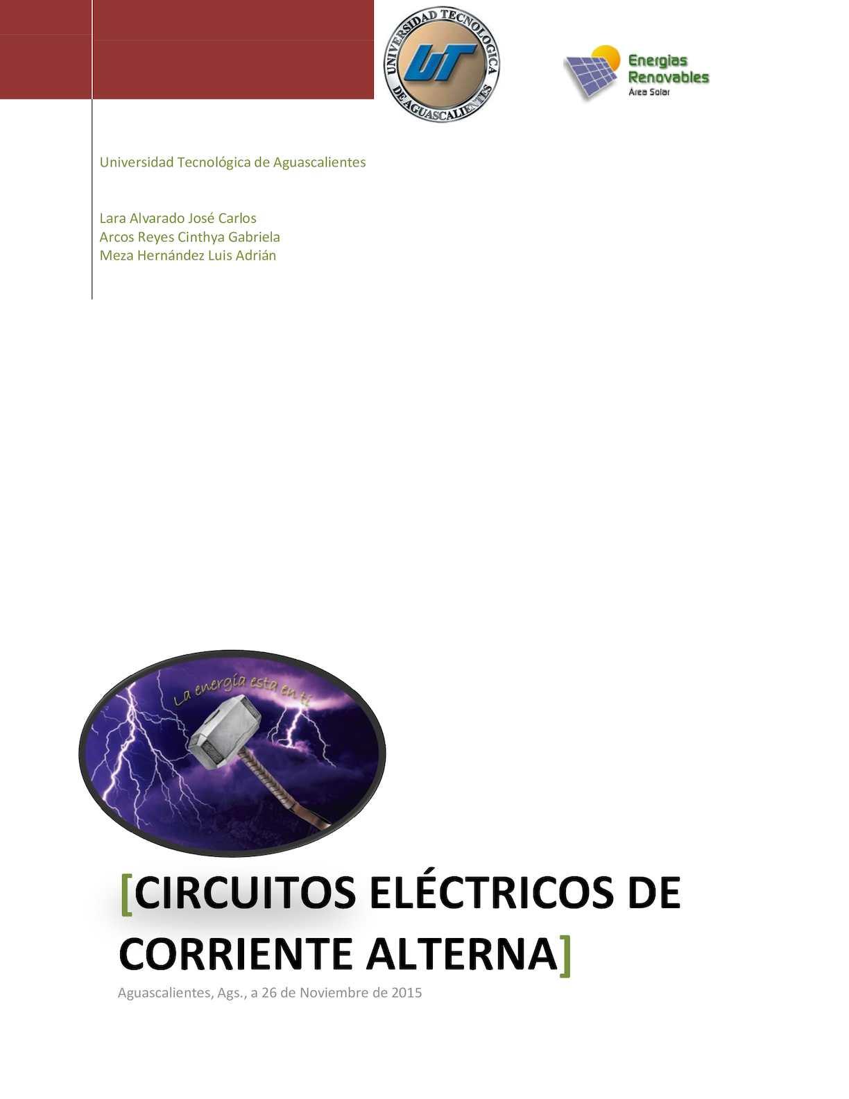 Circuito Que Recorre La Electricidad Desde Su Generación Hasta Su Consumo : Calaméo proyecto circuitos electricos informatica