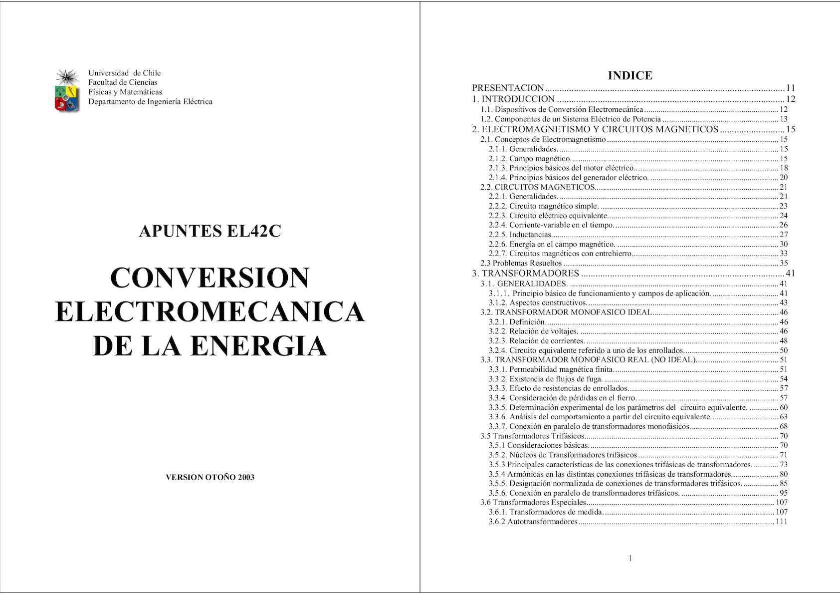 Circuito Unilineal : Calaméo conversion electromecanica de la energia vaf